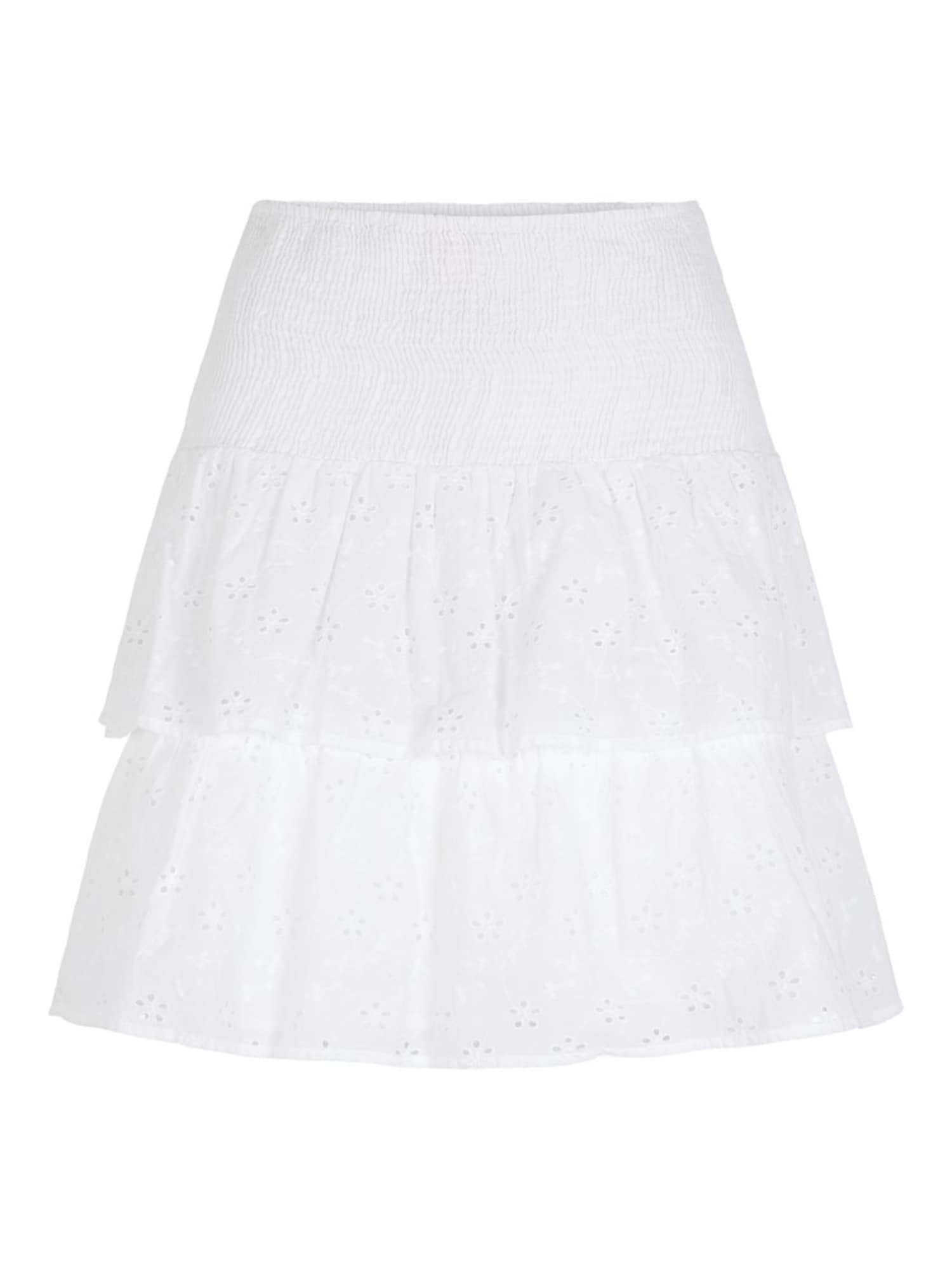 Stufenrock | Bekleidung > Röcke > Stufenröcke & Volantröcke | Weiß | PIECES