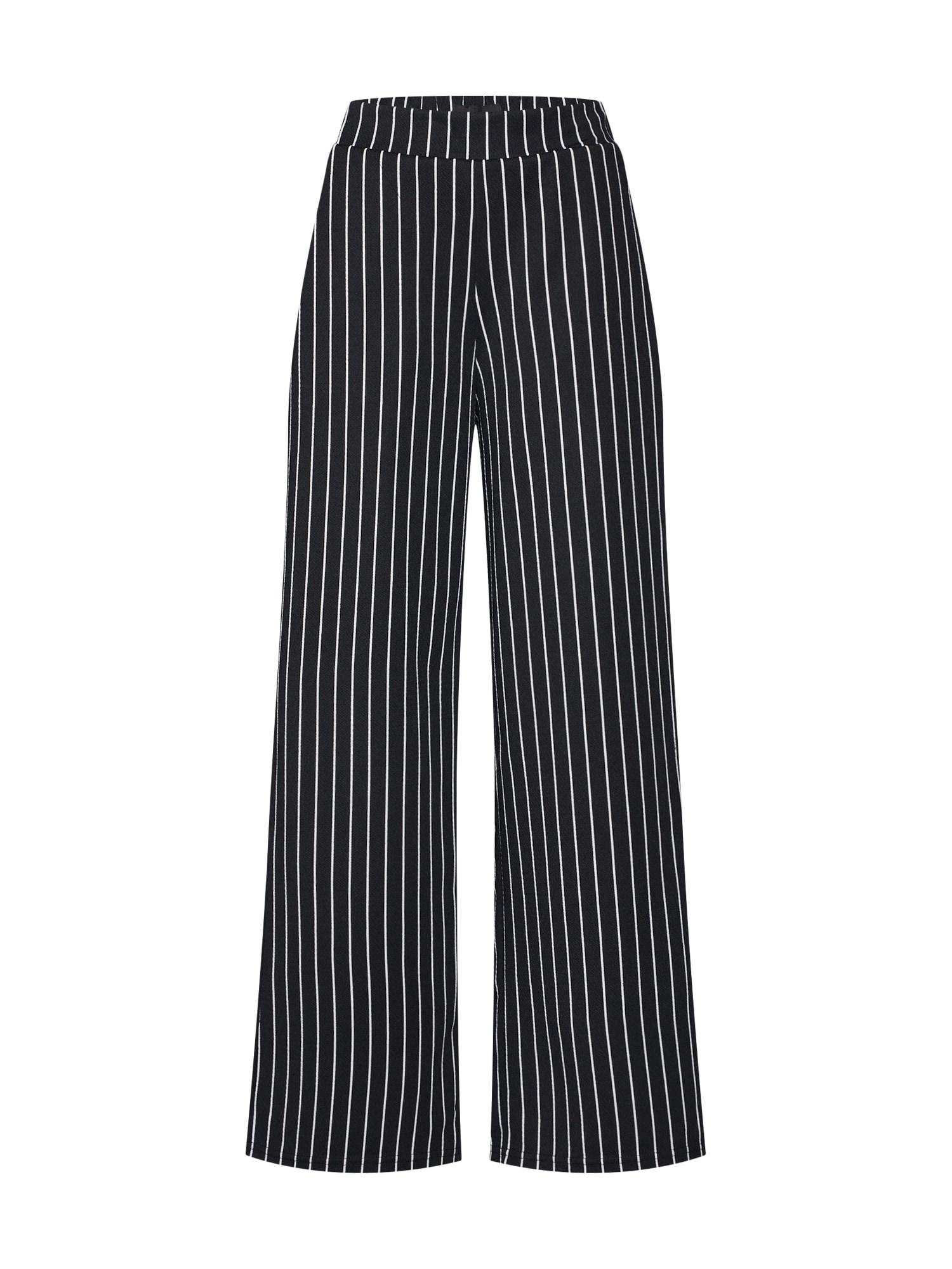 Kalhoty Scarlett černá bílá OBJECT