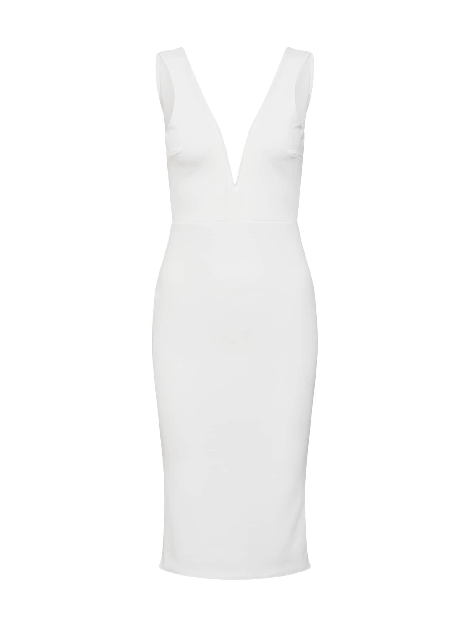 Koktejlové šaty bílá Missguided