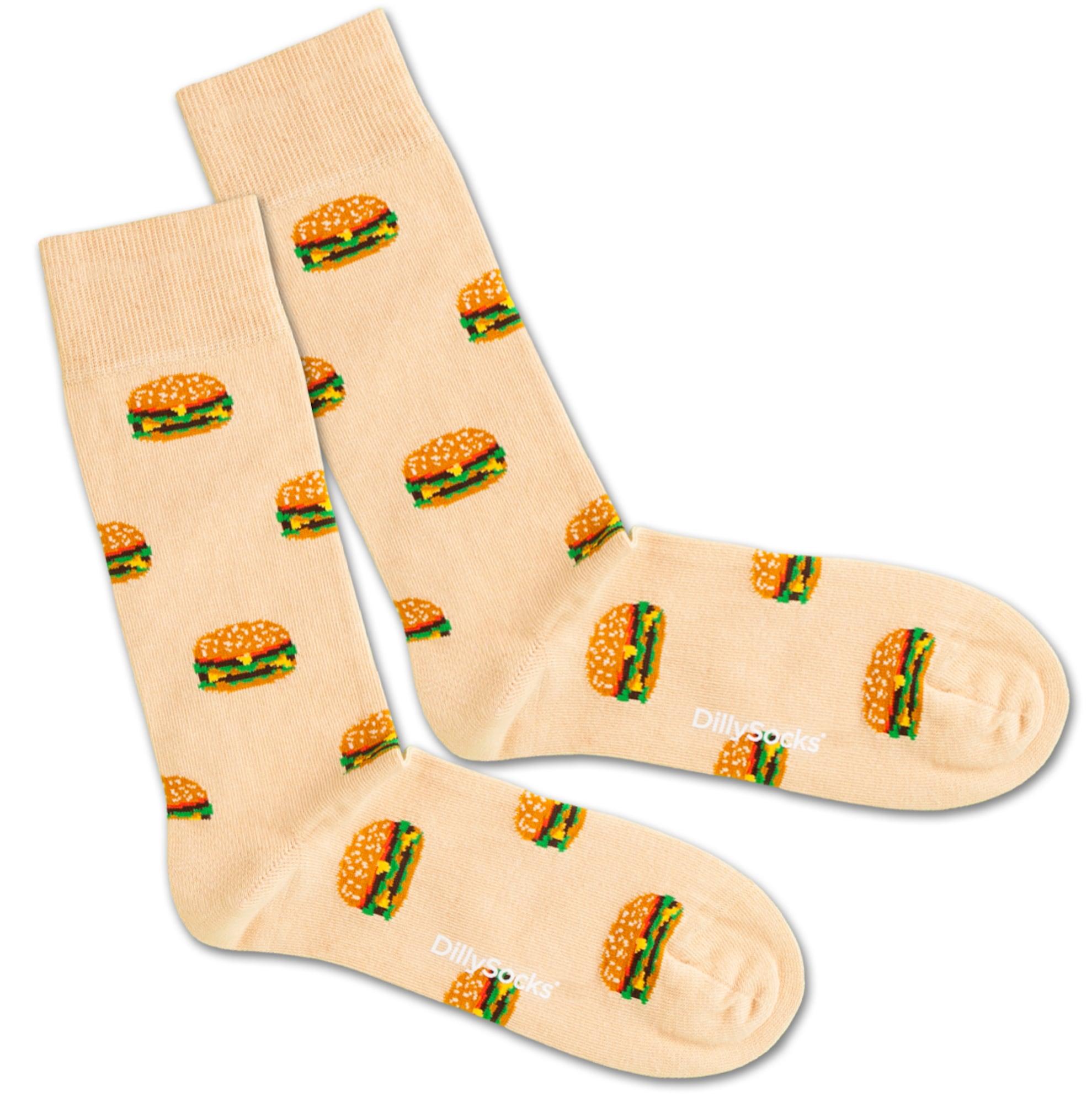 Ponožky Big Burger béžová mix barev DillySocks