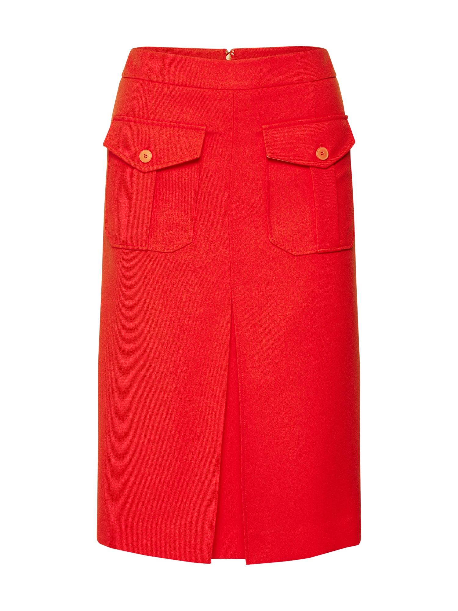 Sukně UNIFORM TWILL červená Calvin Klein