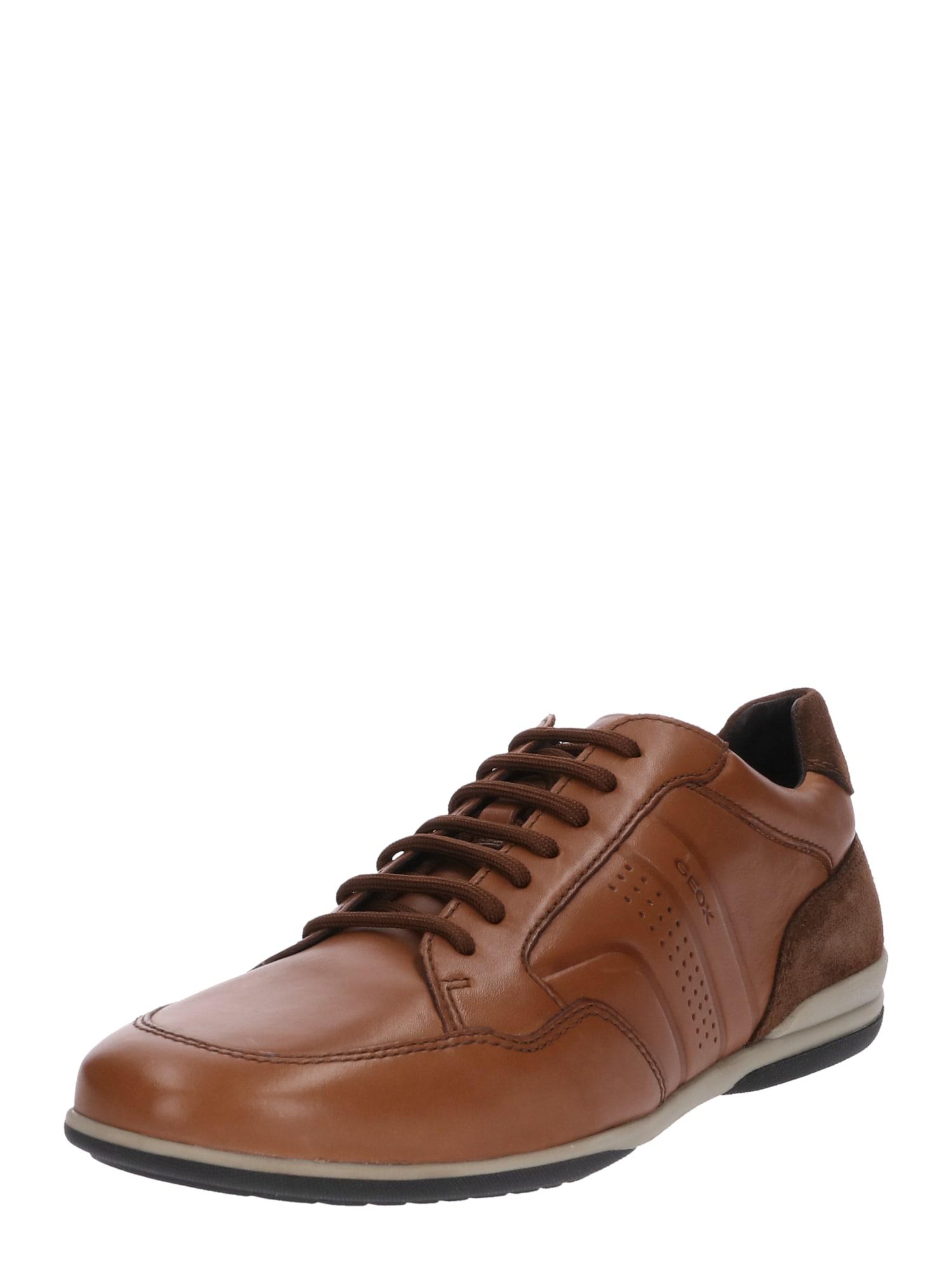 Šněrovací boty TIMOTHY koňaková GEOX