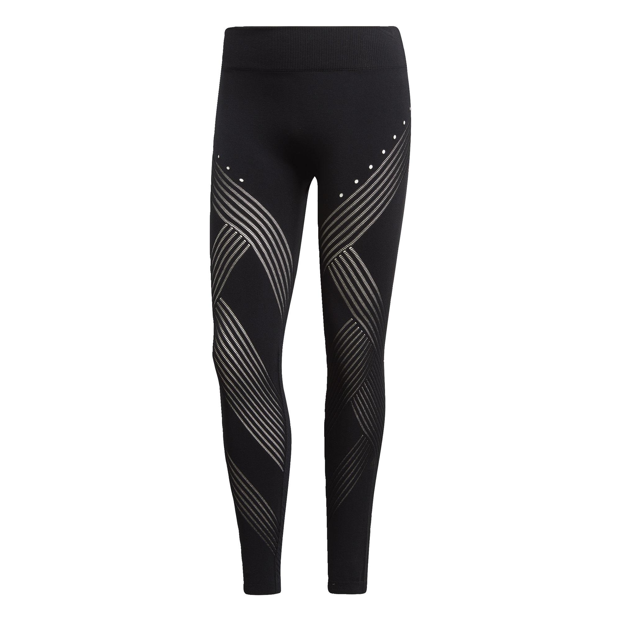 Sportovní kalhoty Warp Knit High-Rise černá ADIDAS PERFORMANCE