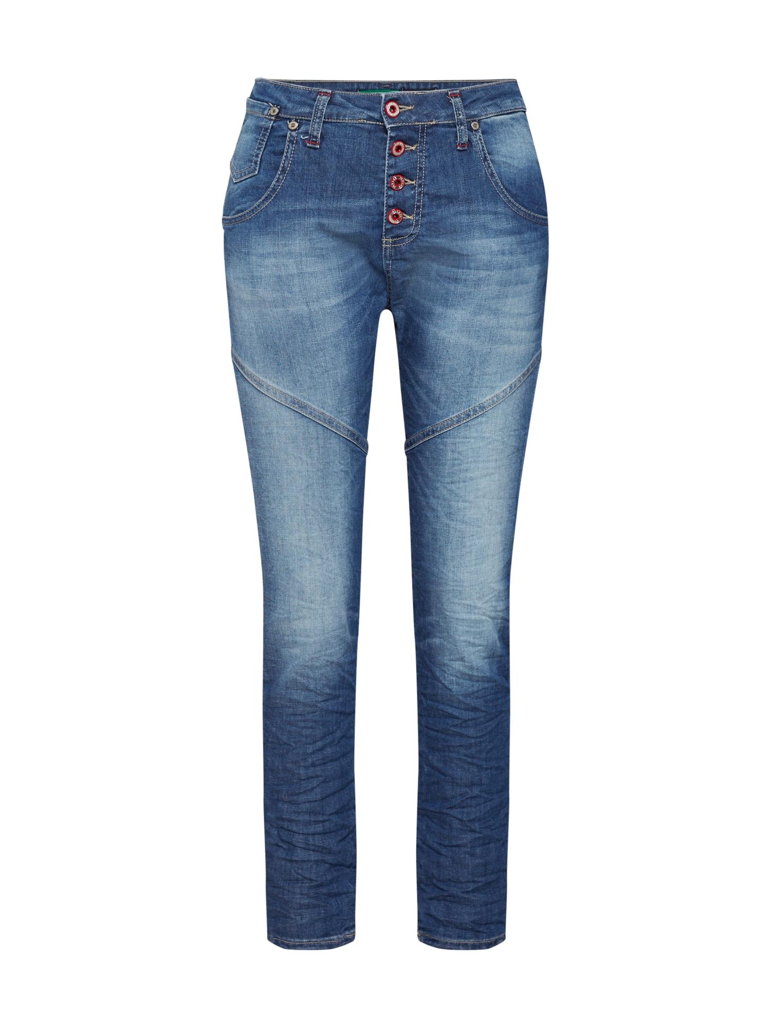 Džíny trousers modrá džínovina PLEASE
