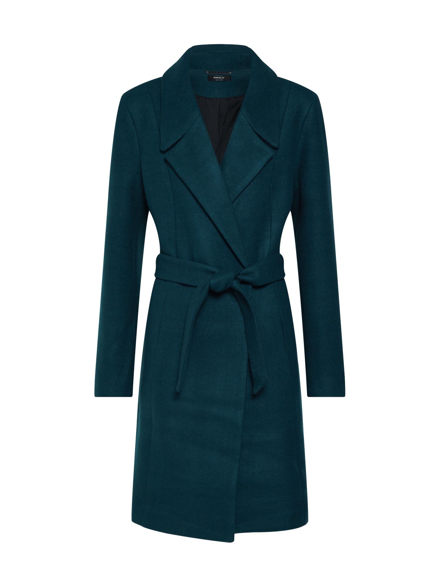 Zimní kabát REGINA smaragdová ONLY