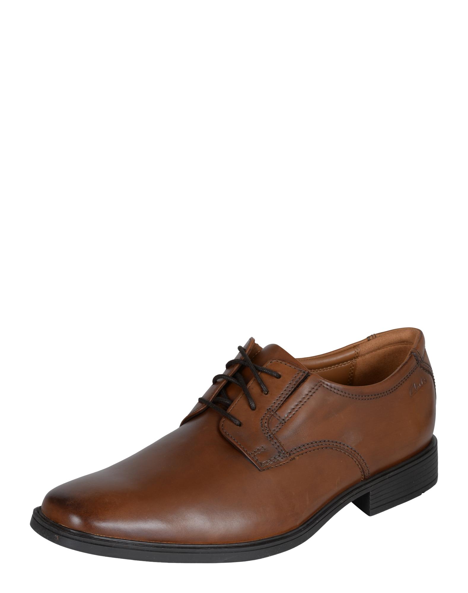 Šněrovací boty Tilden Plain hnědá CLARKS
