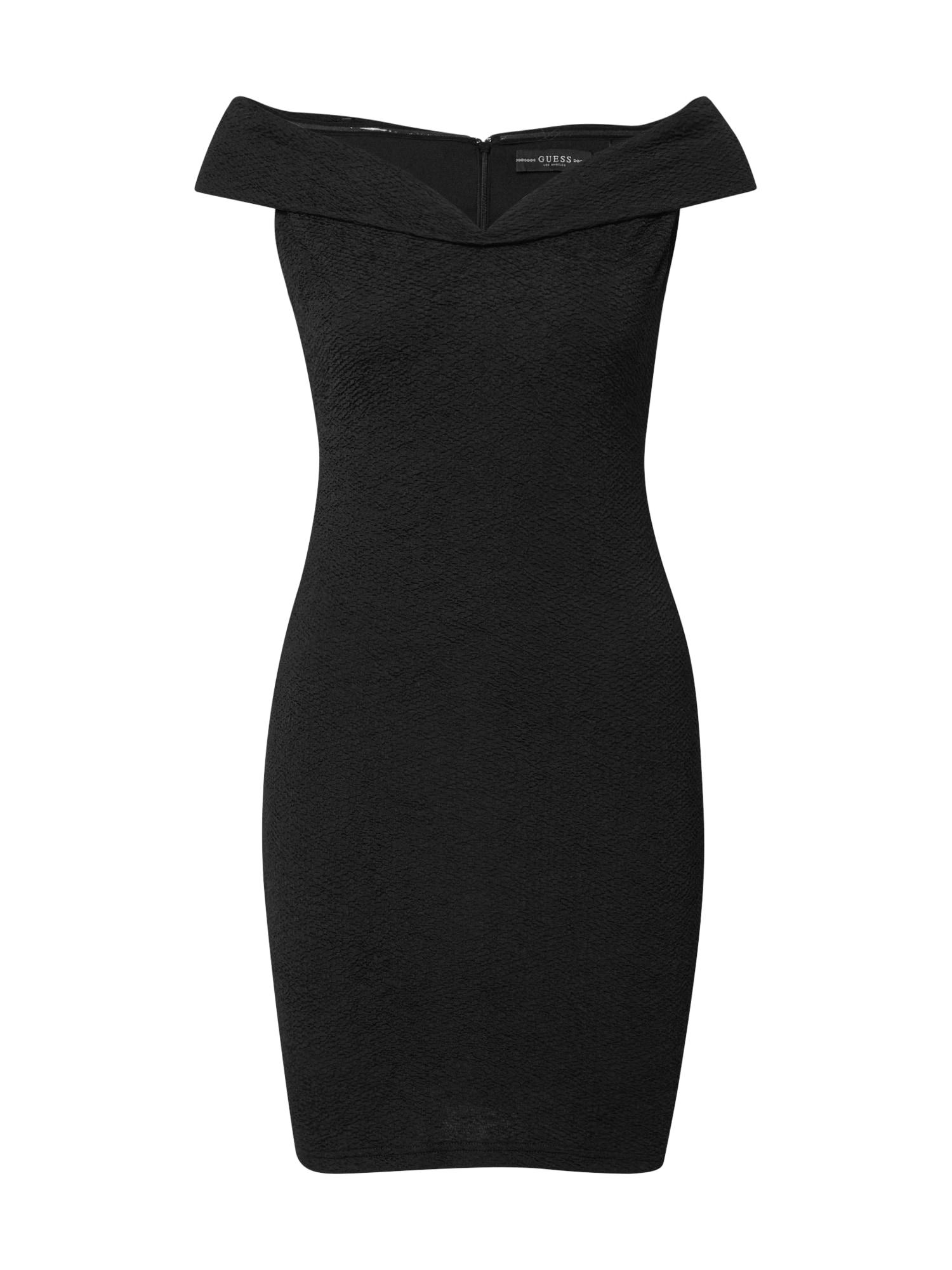 GUESS Puzdrové šaty 'BLANCA'  čierna