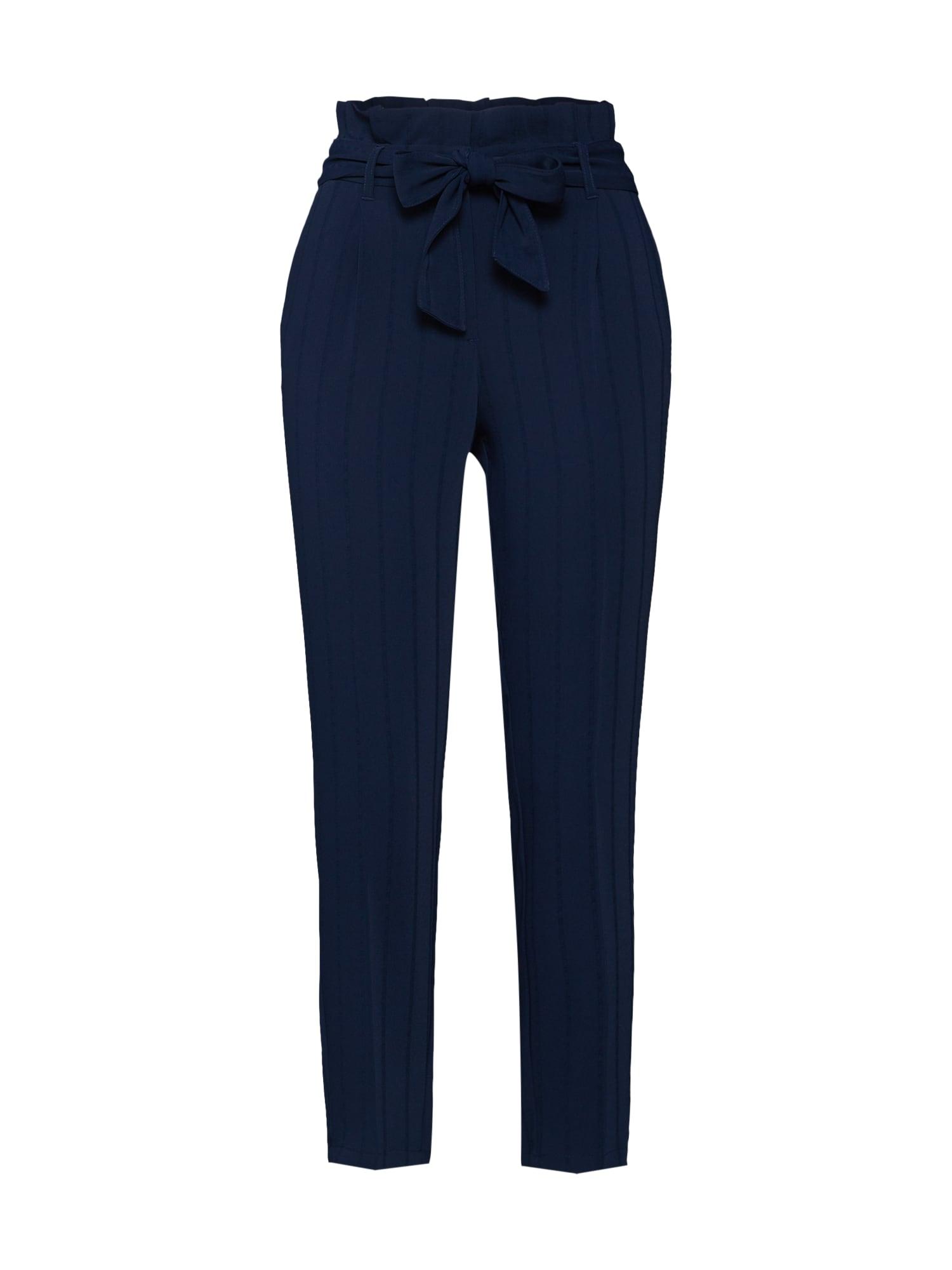 Kalhoty se sklady v pase modrá TOM TAILOR
