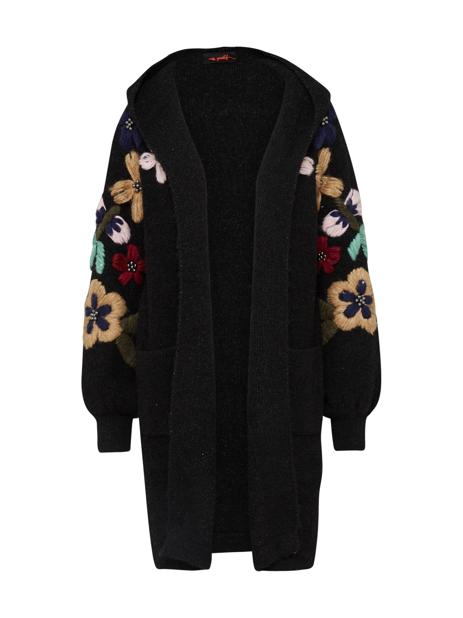 Oversized vest ''Arms Flowers Embroidery''