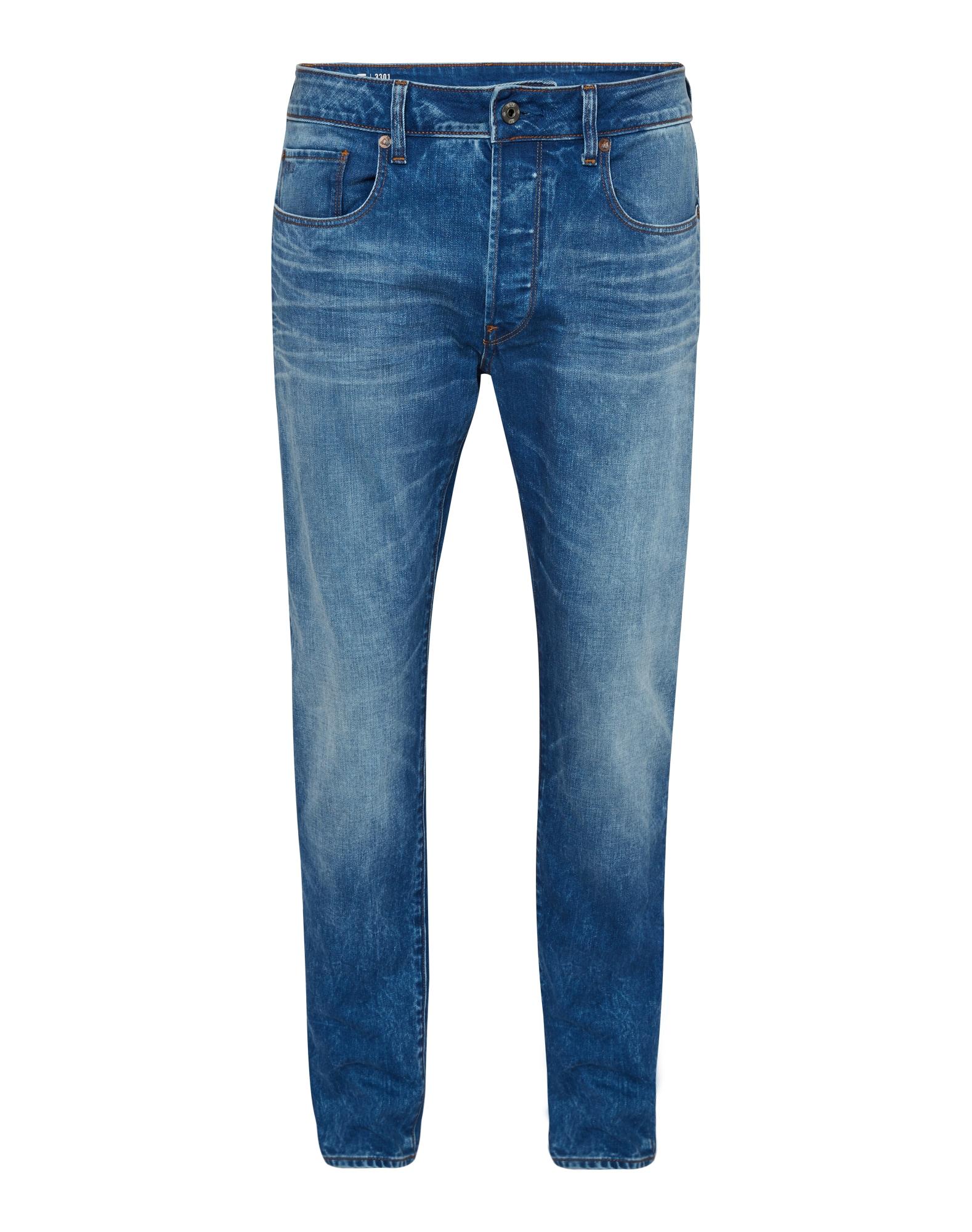 G-STAR RAW Heren Jeans 3301 Slim blauw denim