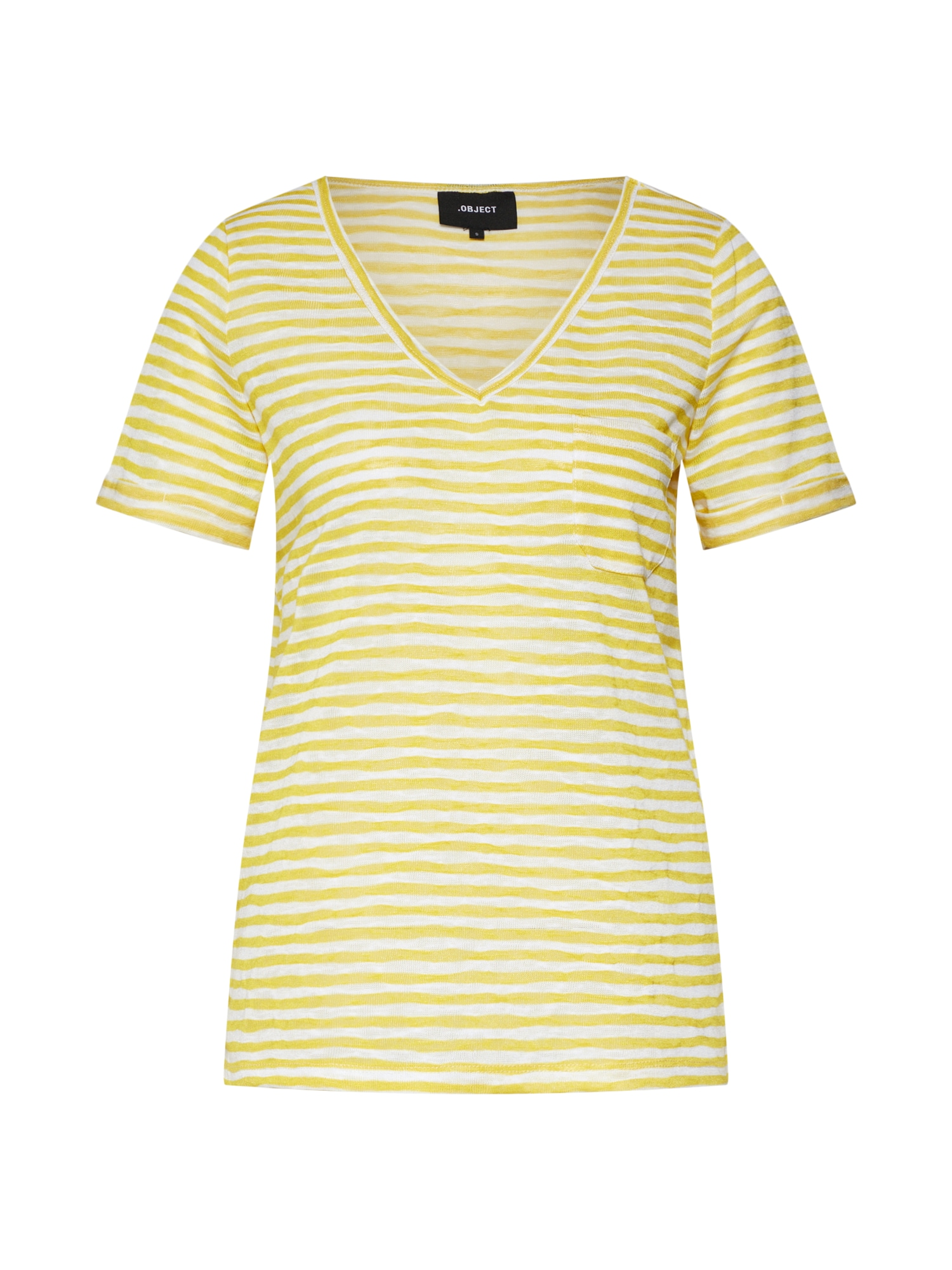 Tričko OBJTESSI žlutá bílá OBJECT