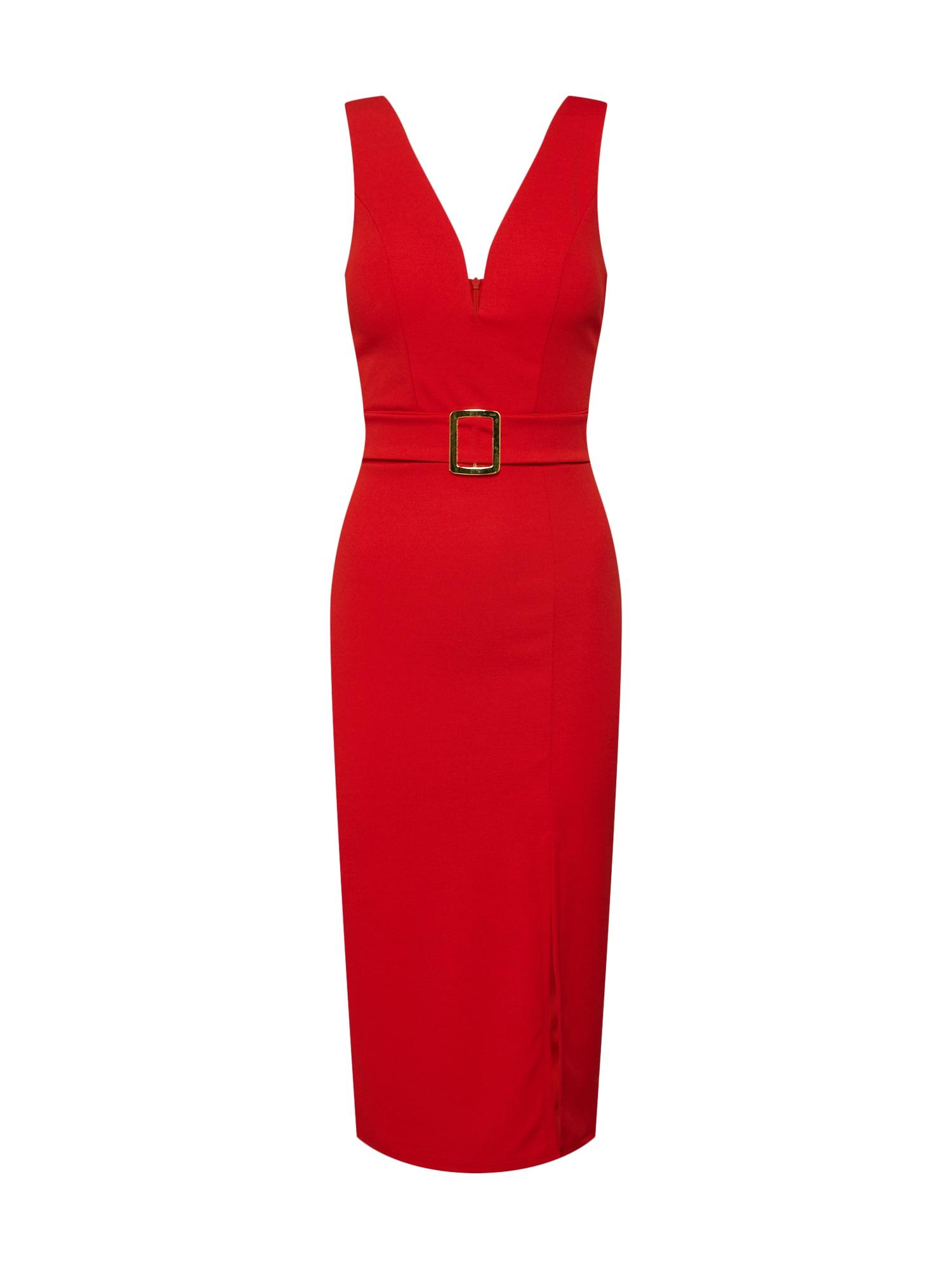 Pouzdrové šaty WG 6268 červená WAL G.