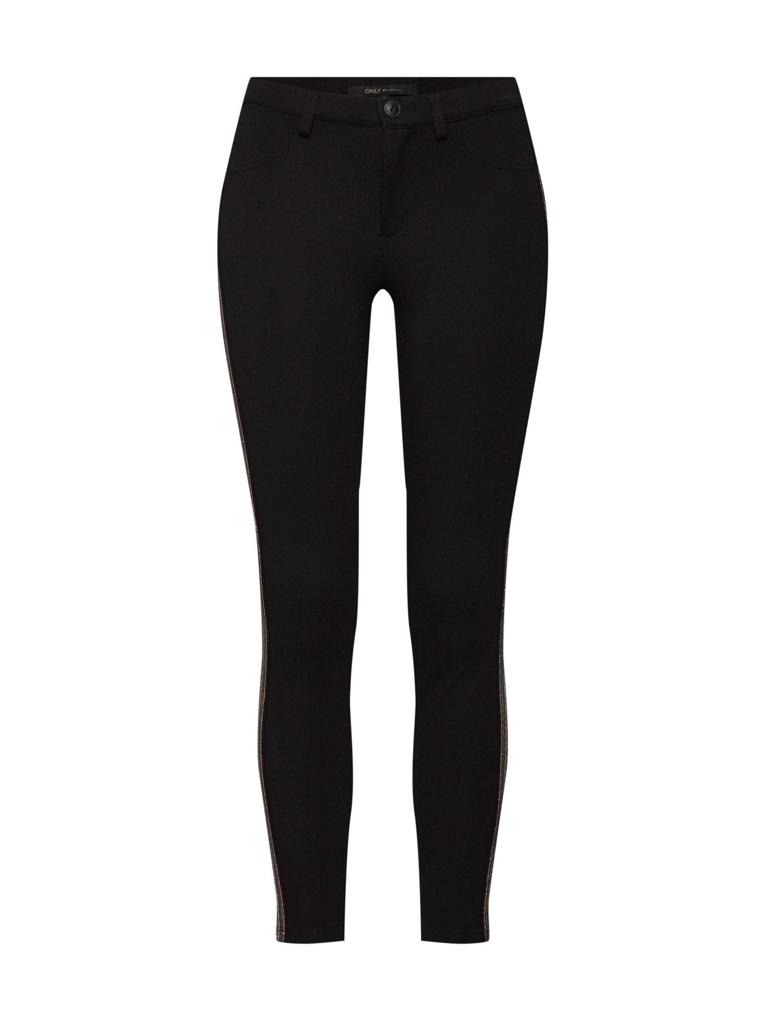 Kalhoty onlEVIE GLITTER SPORT LEGGING PNT černá ONLY
