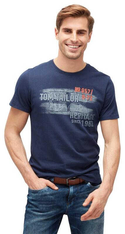 TOM TAILOR T-Shirt mit Schrift-Print - broschei