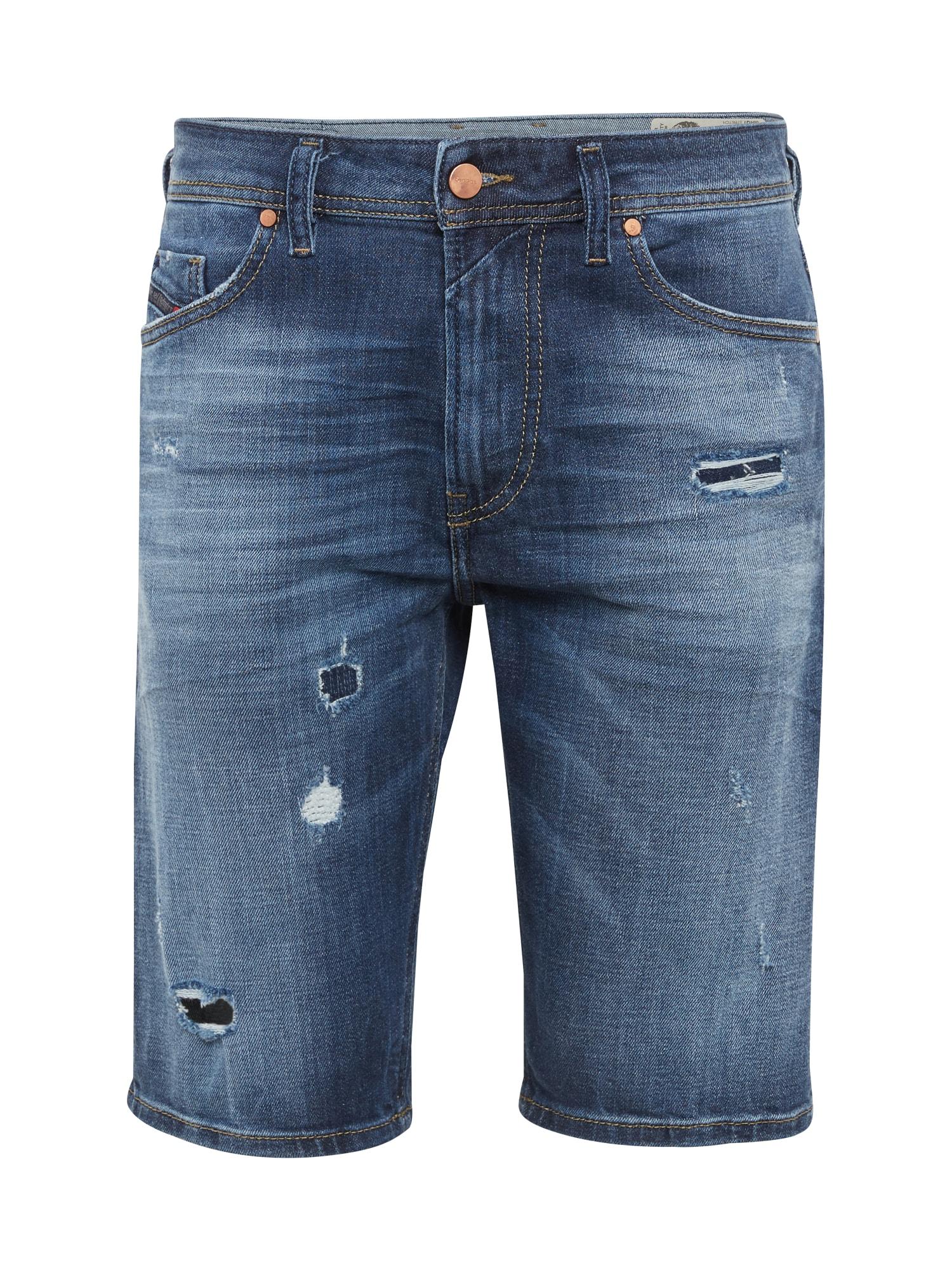 DIESEL Heren Jeans THOSHORT blue denim
