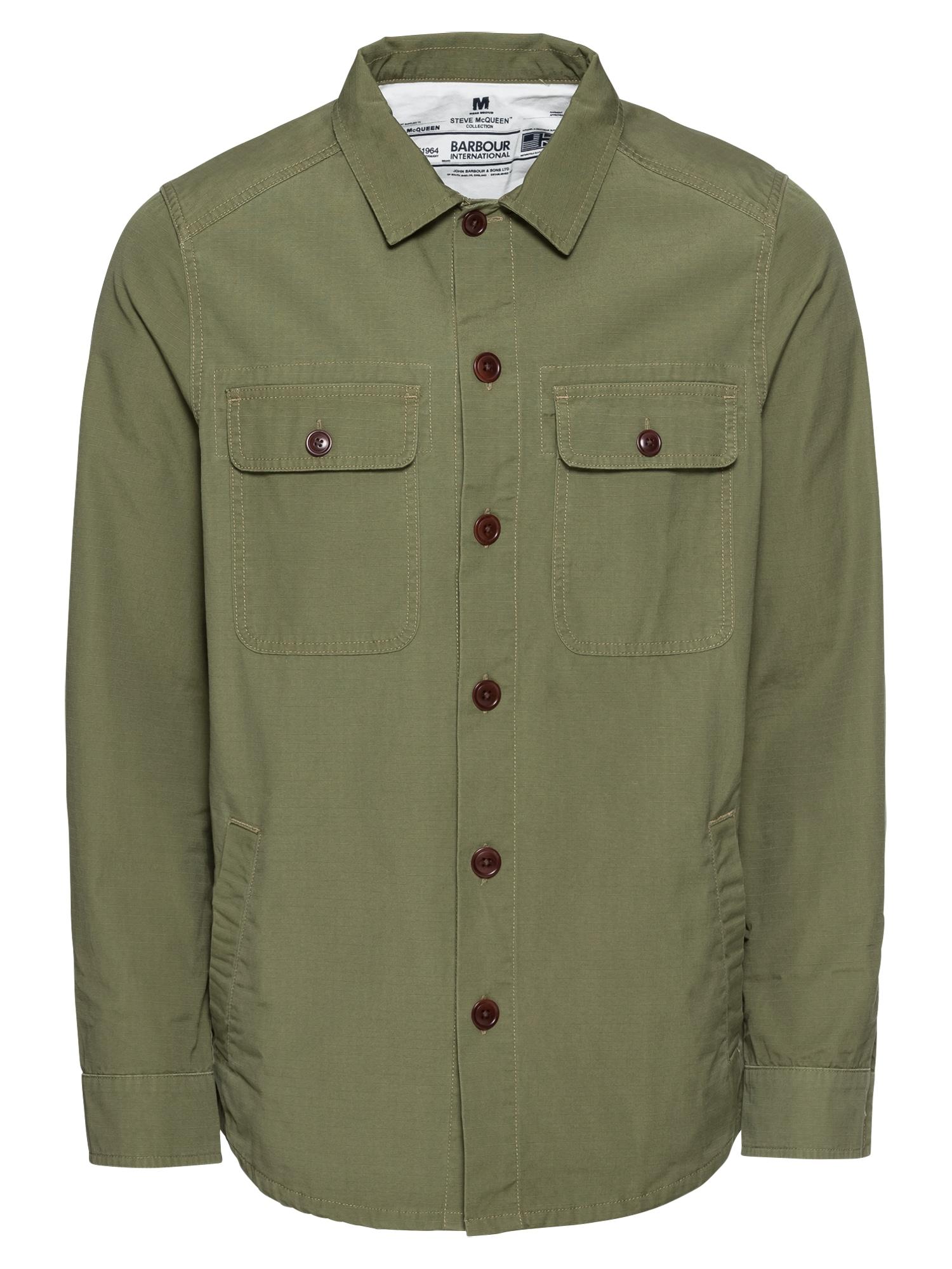 Košile Smq Doc Overshirt olivová Barbour International