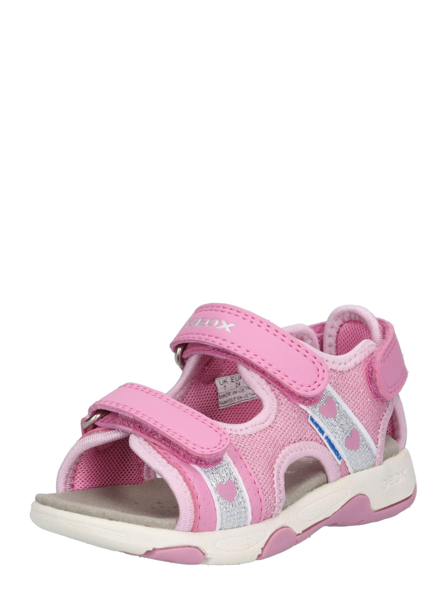 Sandály MULTY růžová bílá GEOX