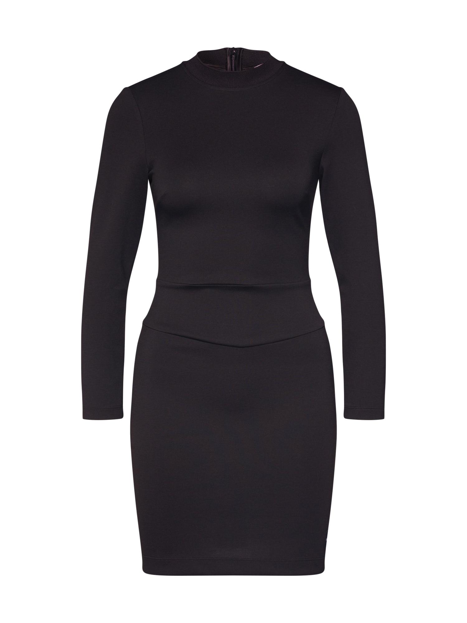 Šaty FITTED MILANO černá Calvin Klein Jeans