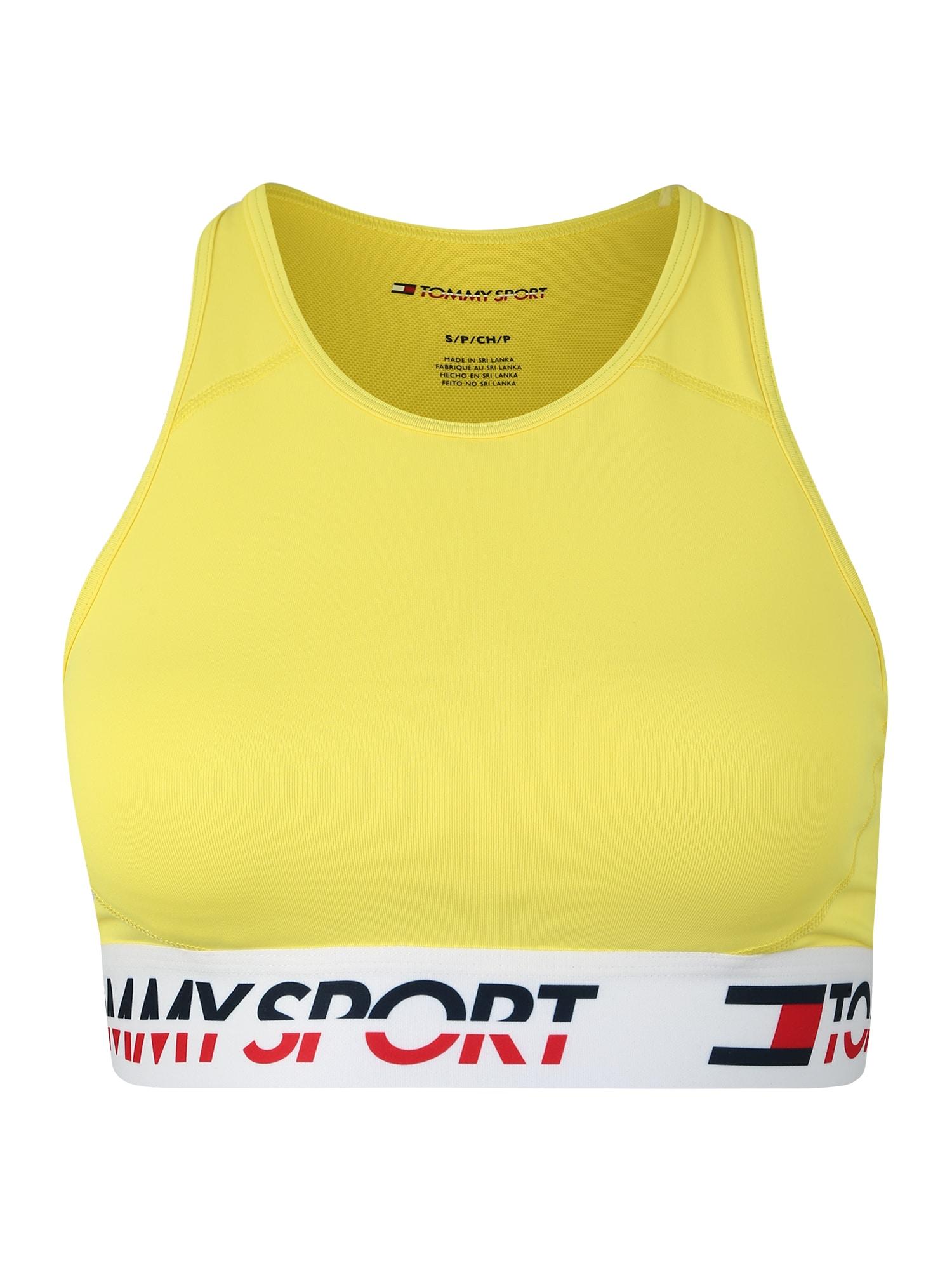 Sportovní podprsenka žlutá Tommy Sport