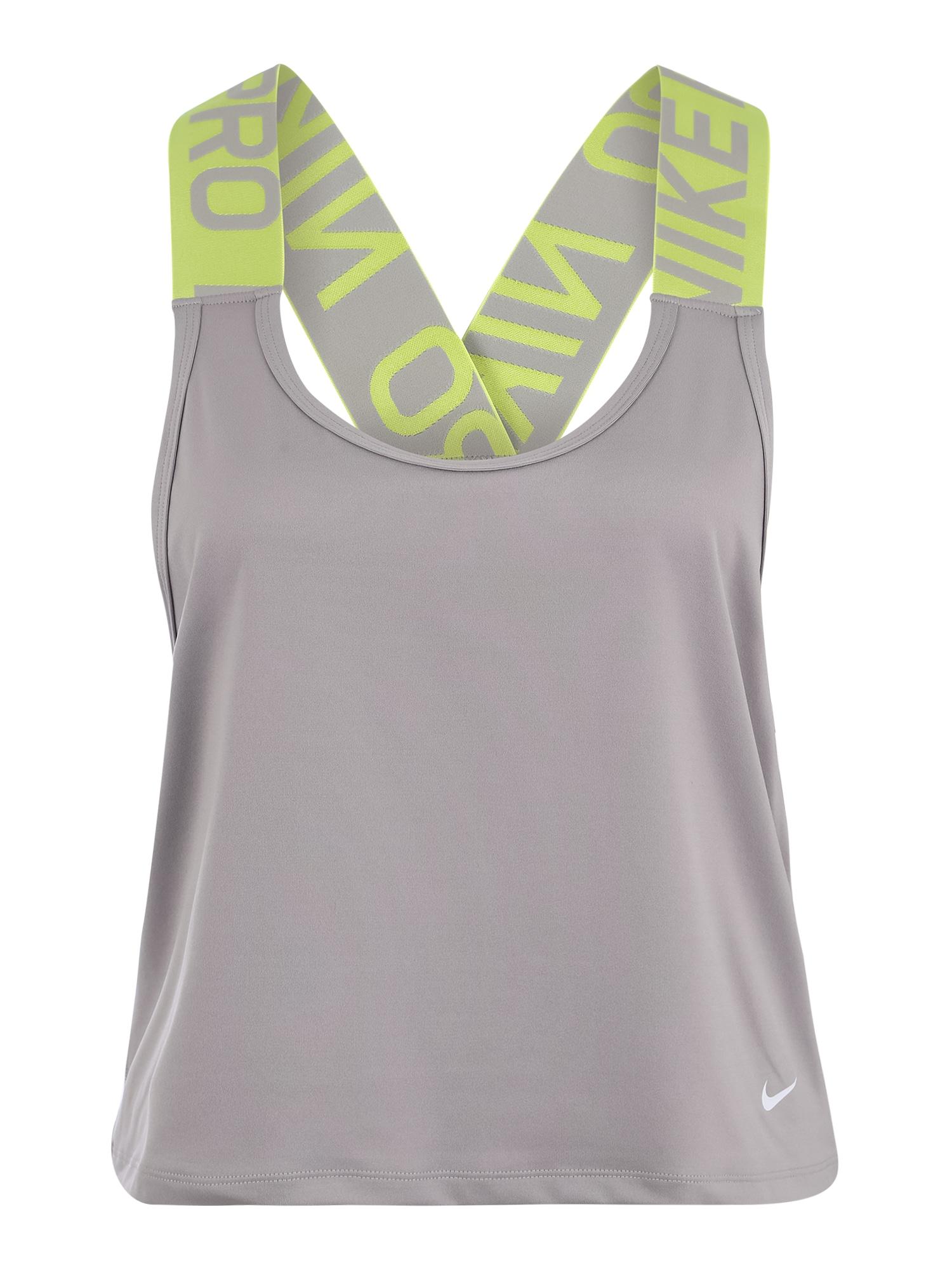 Sportovní top šedá světle zelená bílá NIKE