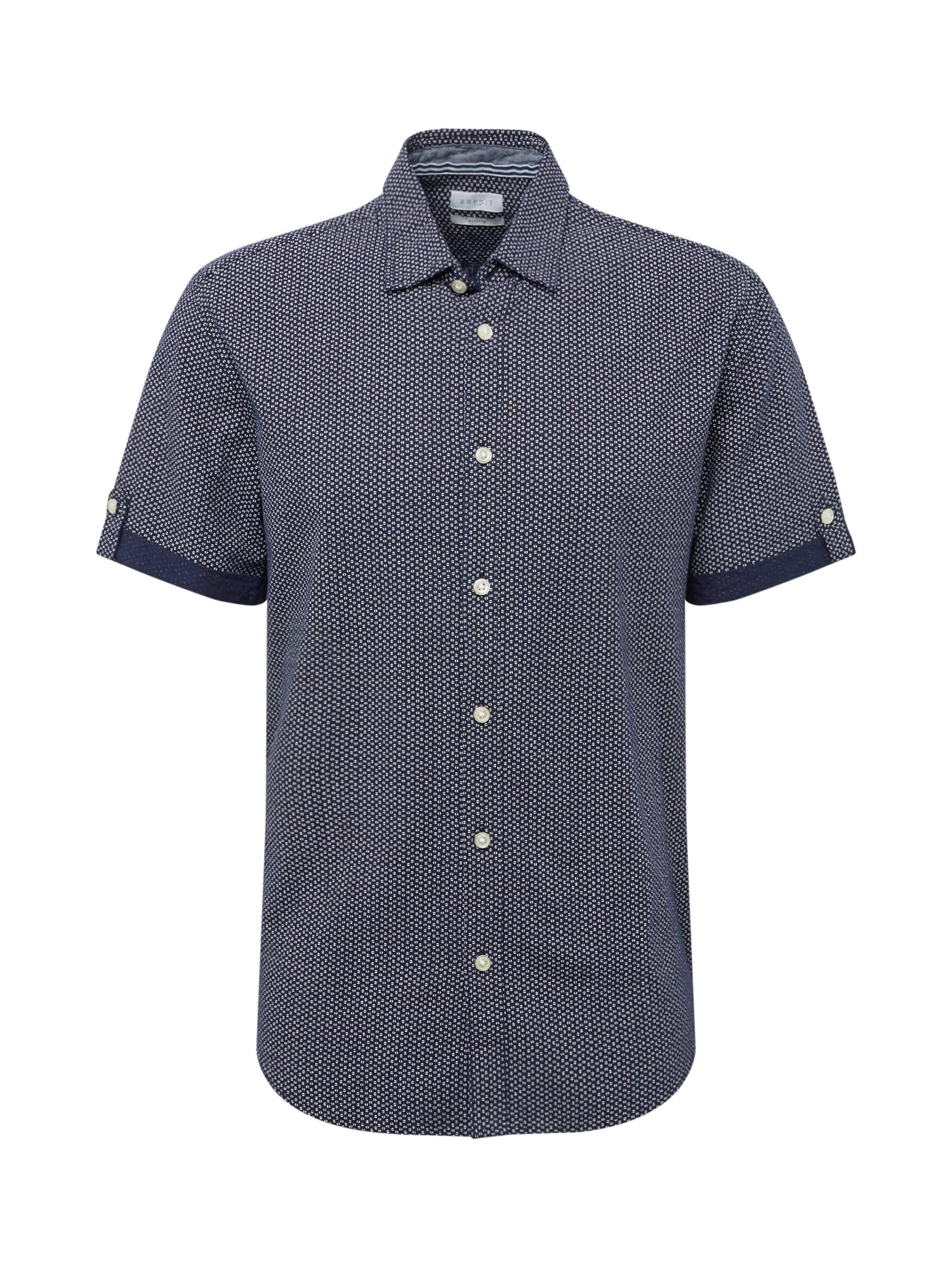 Košile Shirt SS tmavě modrá bílá ESPRIT
