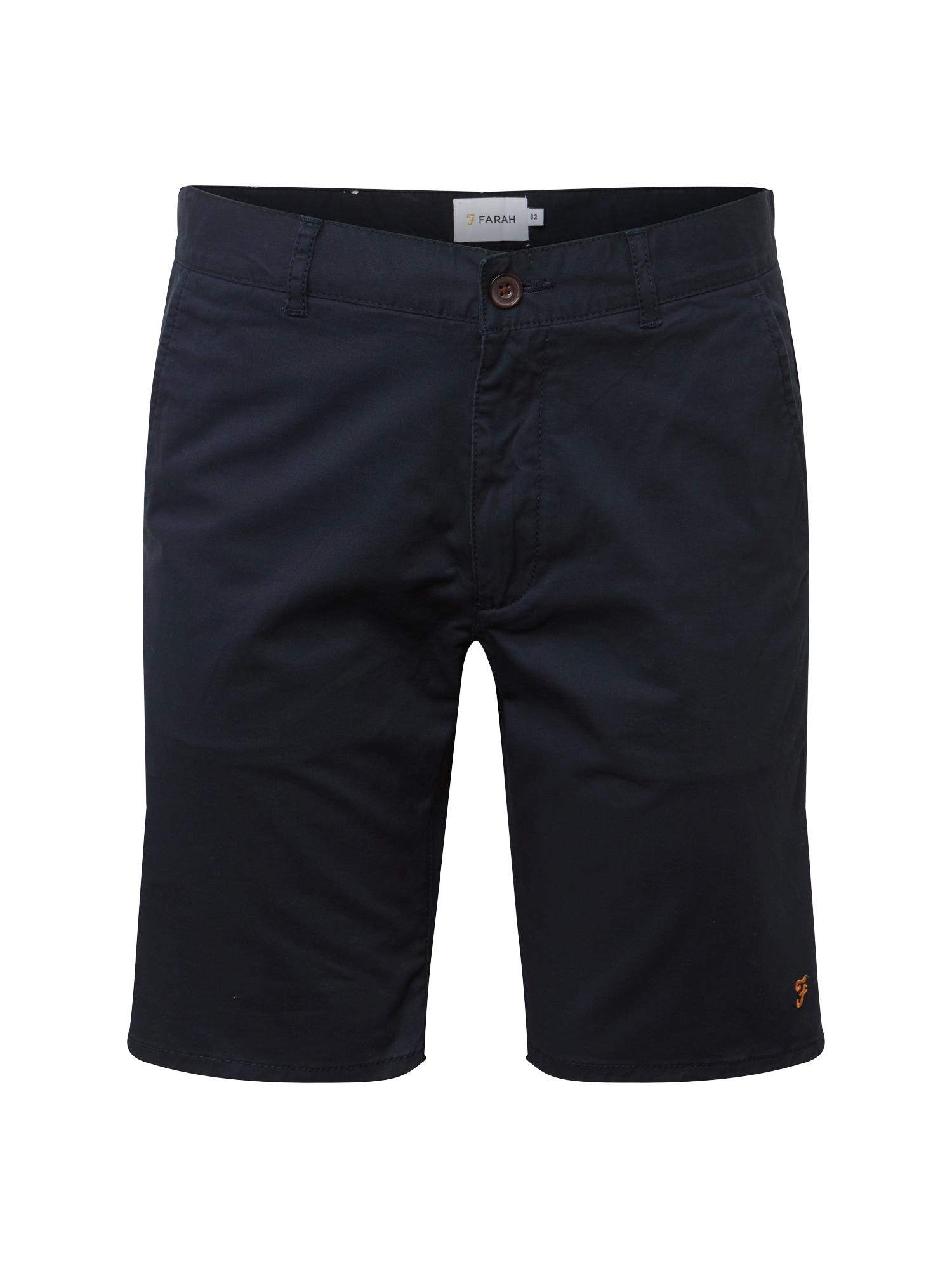 Chino kalhoty HAWK SHORT CHINO TWILL námořnická modř FARAH