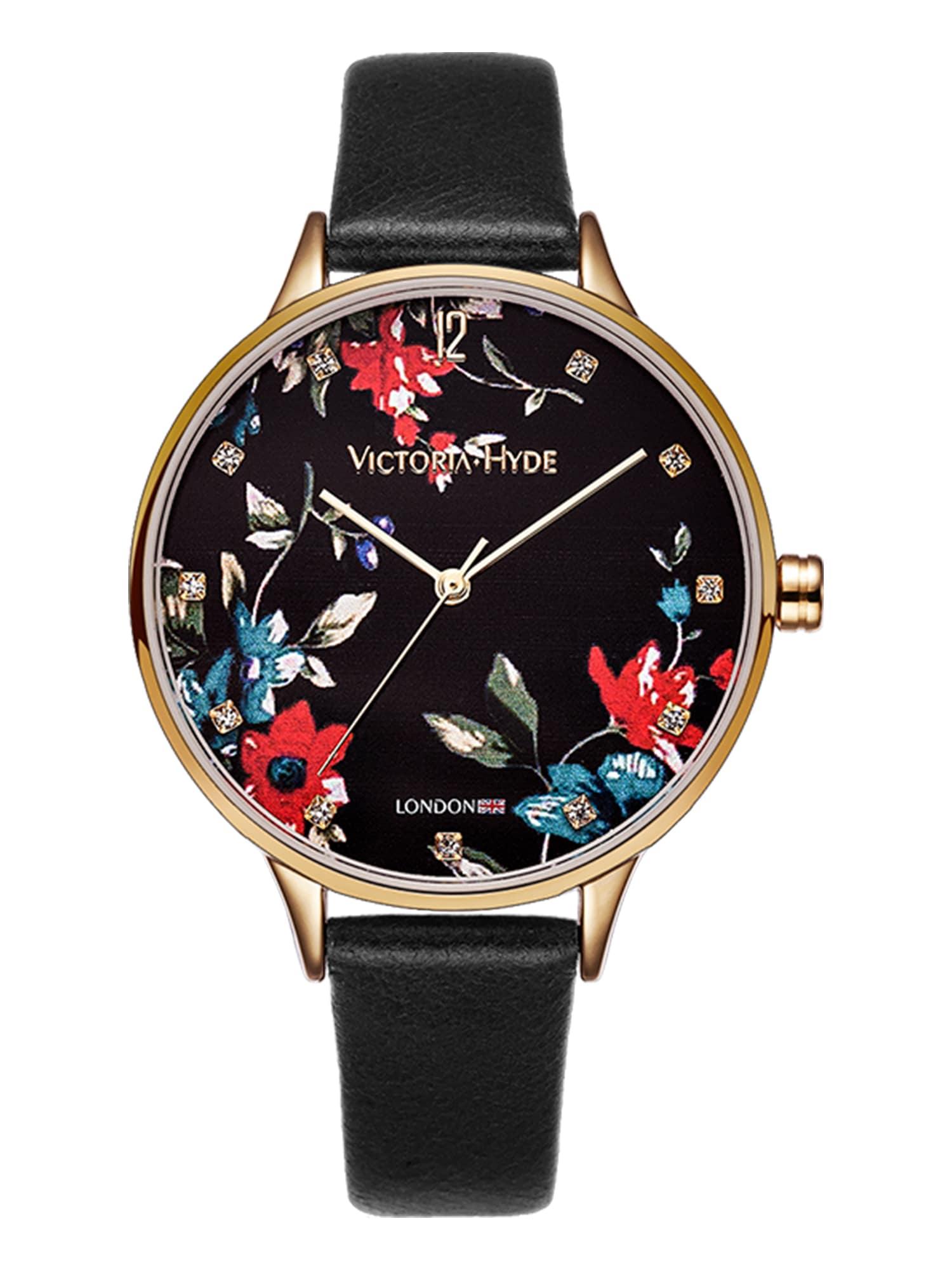 Armbanduhr | Uhren | Gold - Schwarz | Victoria Hyde