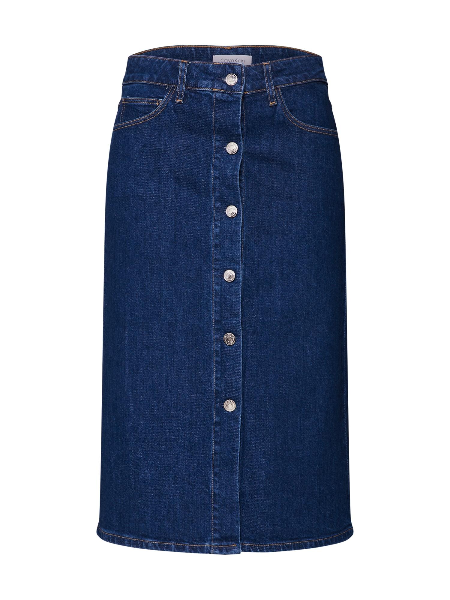 Sukně modrá džínovina Calvin Klein