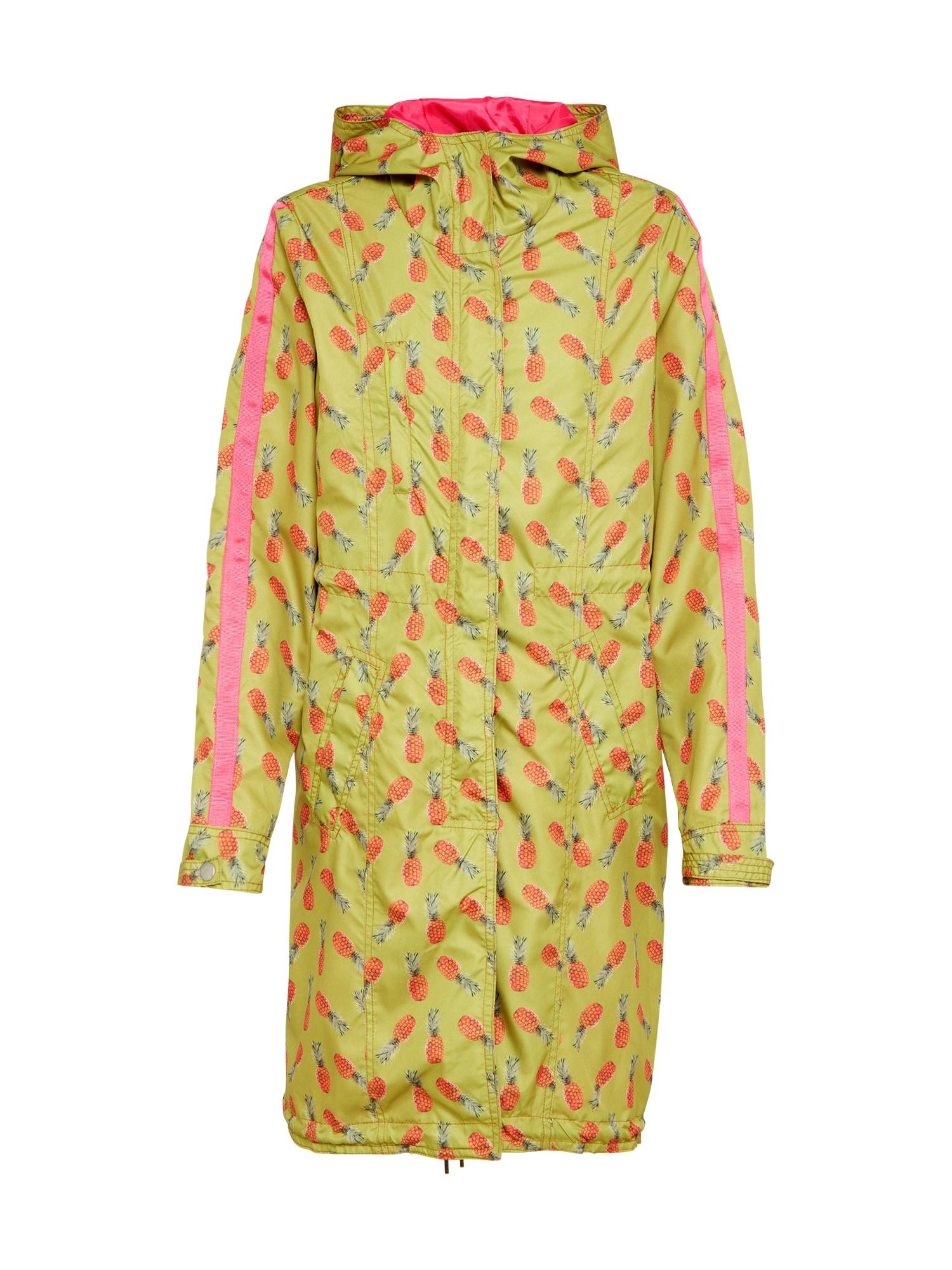 Přechodová parka Pineapple světle zelená pink Miss Goodlife