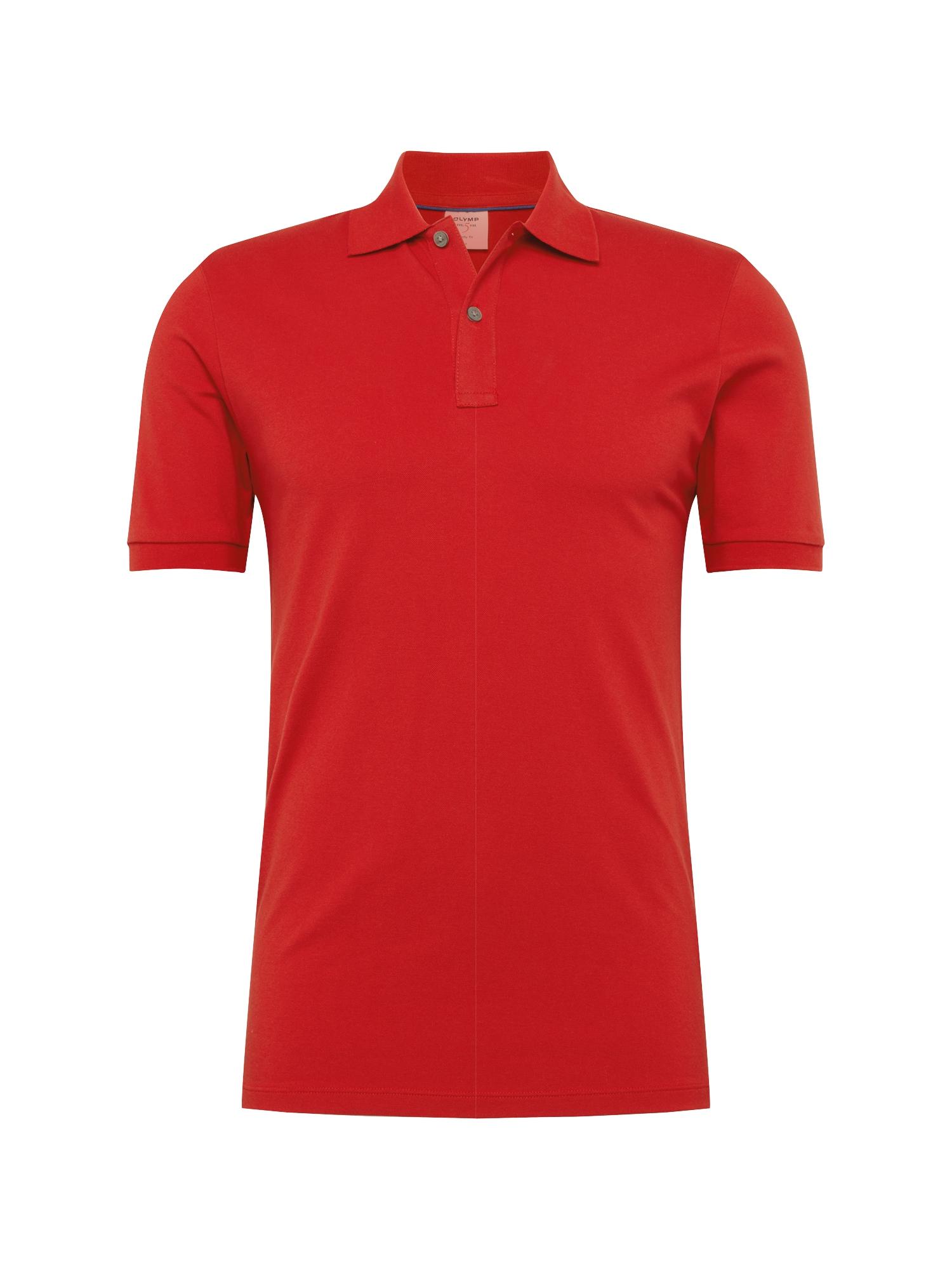 Tričko Level 5 Casual Polo Cotton červená OLYMP