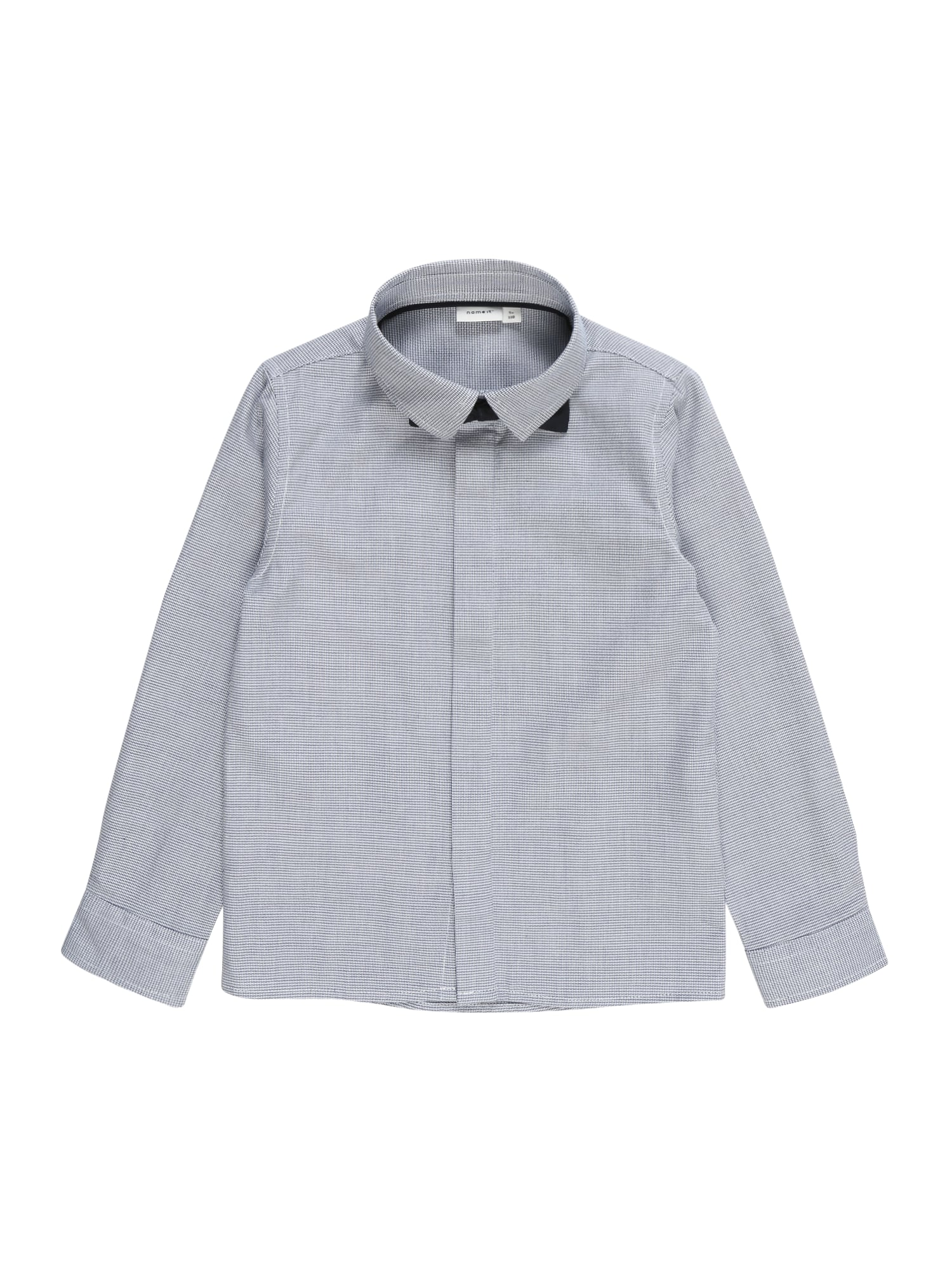 Košile NMMSTANLEY LS SHIRT šedá černá NAME IT