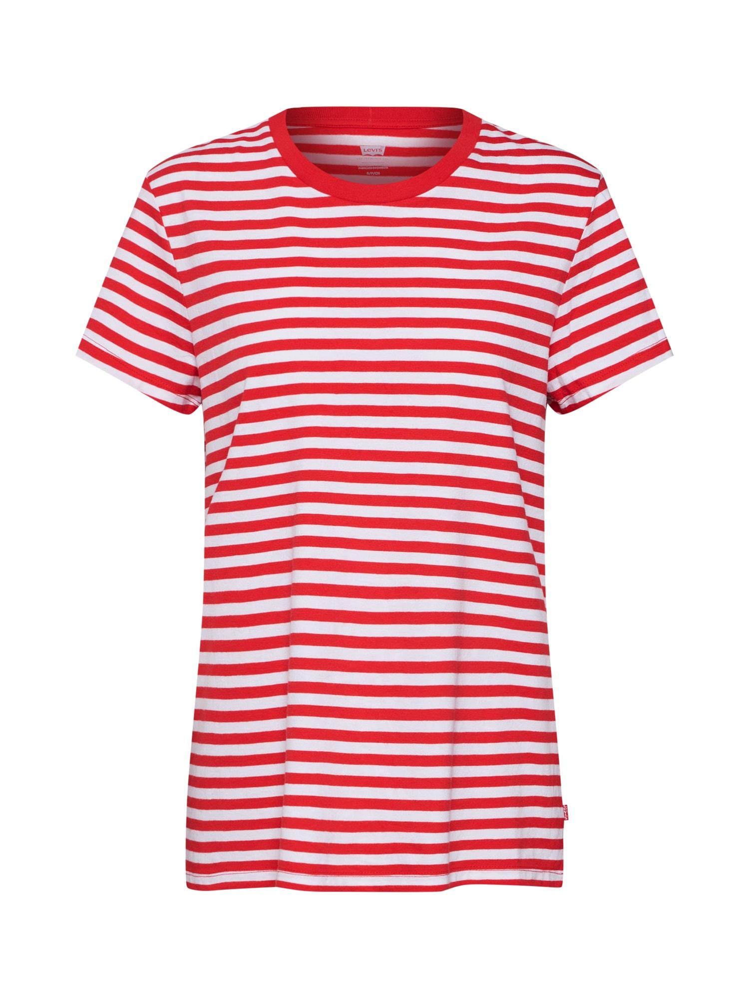 LEVIS Tričko The Perfect Tee červená bílá LEVI'S