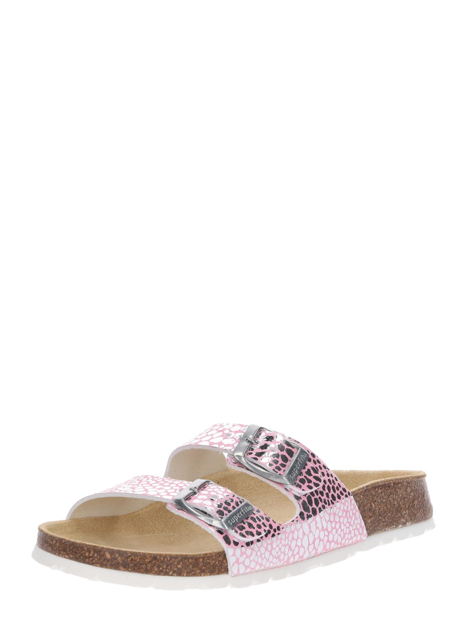 Sandály růžová stříbrná SUPERFIT