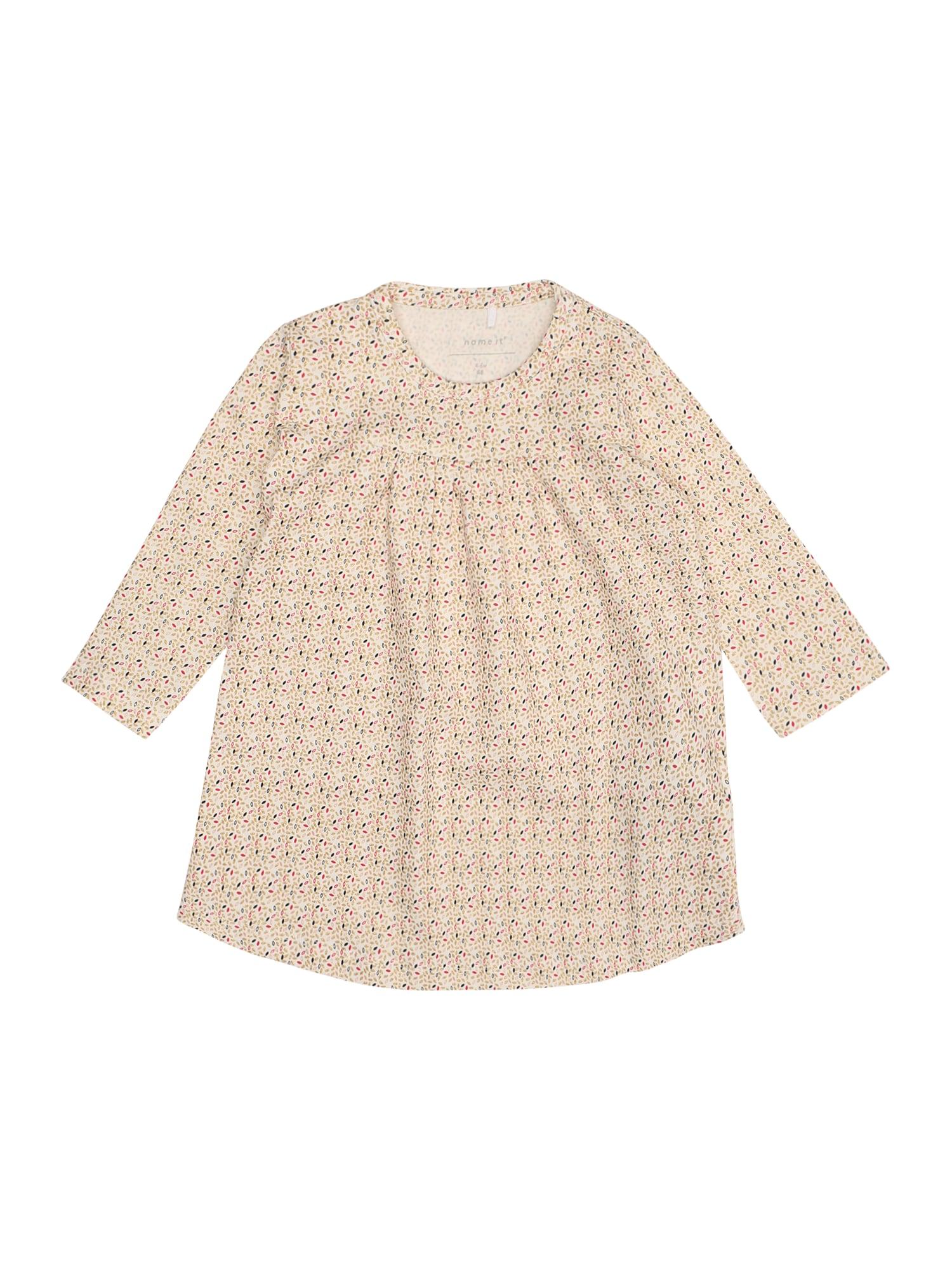 Name it Meisjes Jurk 'NBFSILD LS DRESS BOX' crème