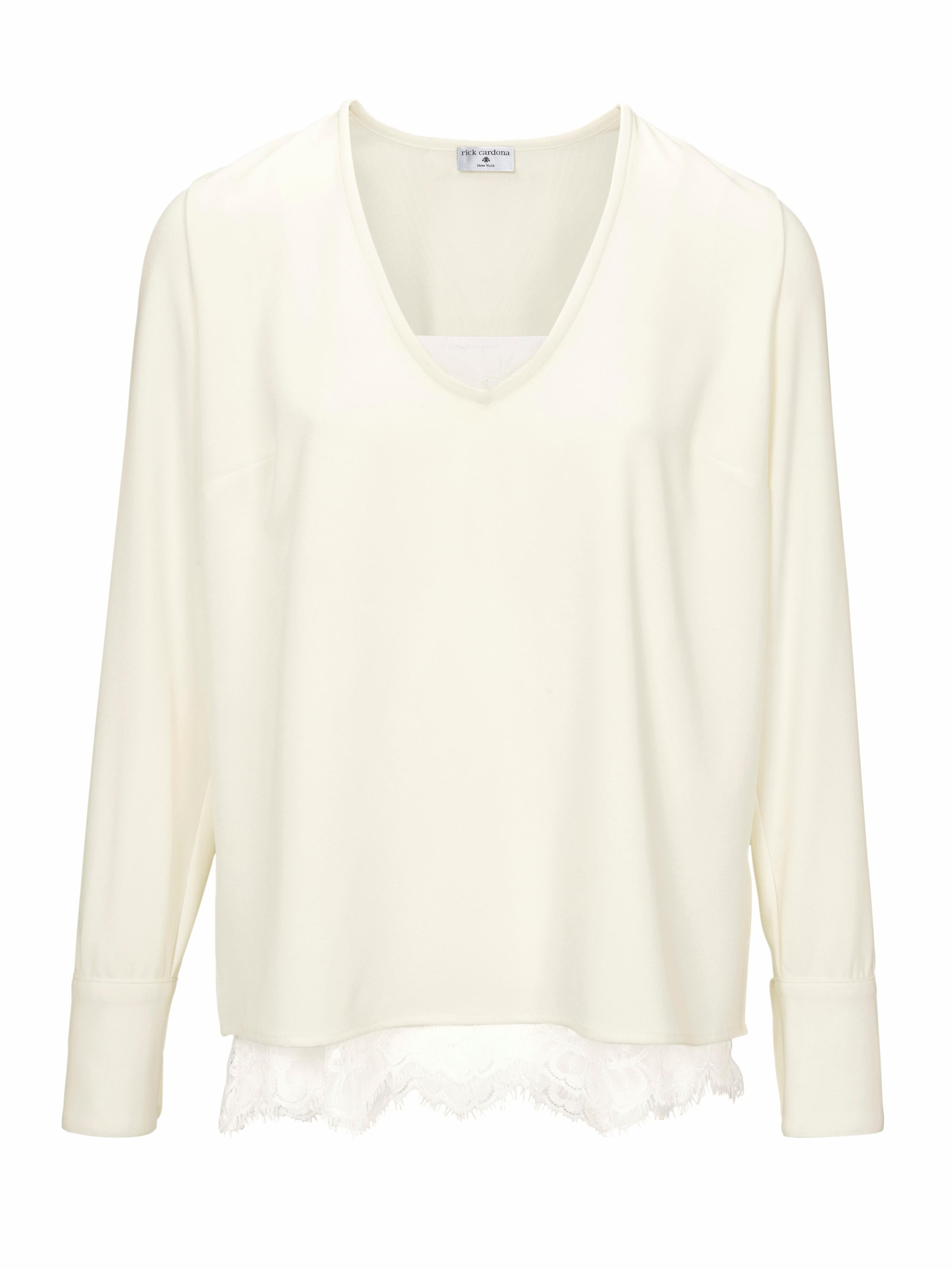 Image of 2-in-1-Bluse Mit Spitze