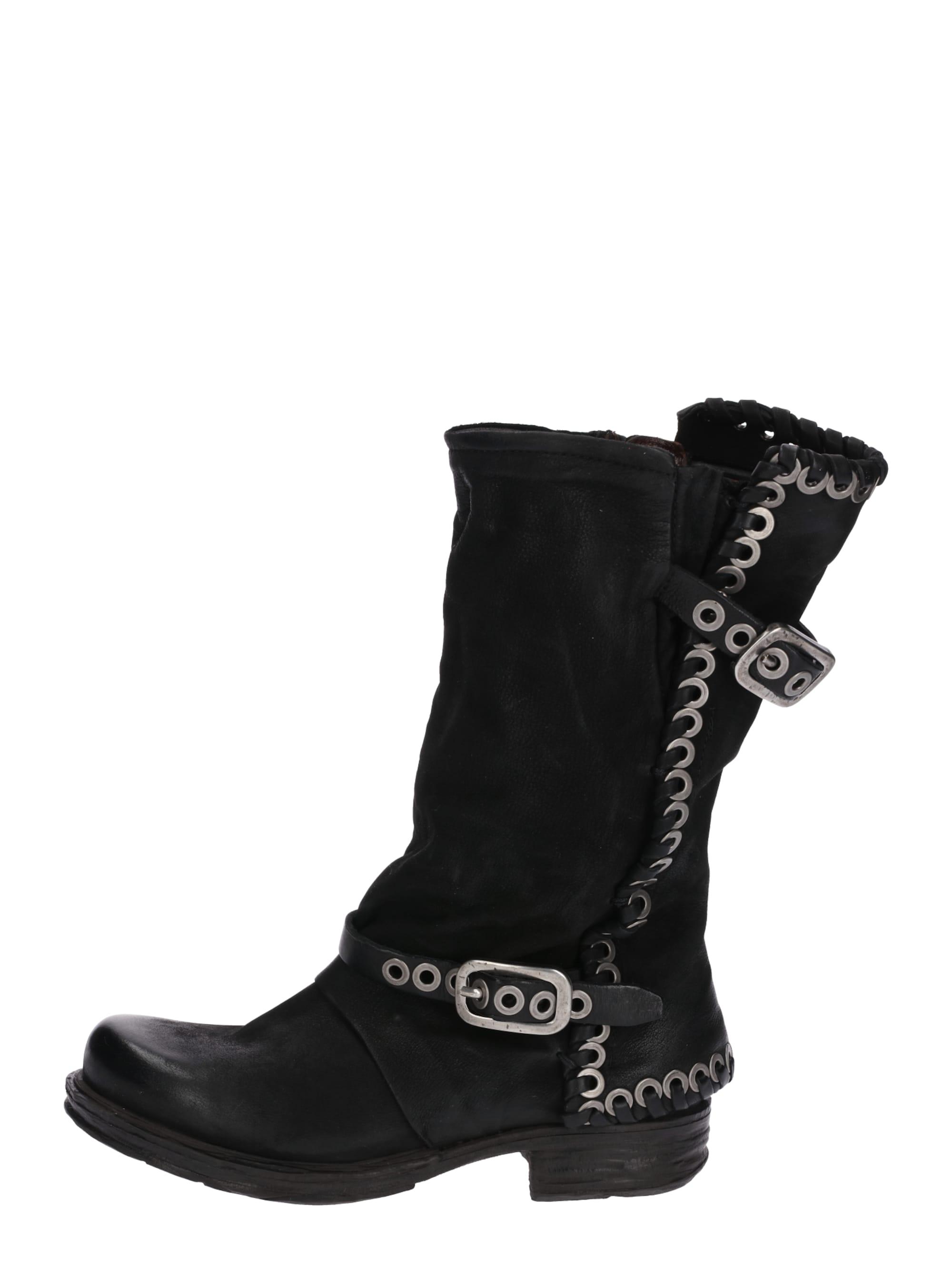 A.S.98 Buty kowbojskie 'SAINTEC'  czarny
