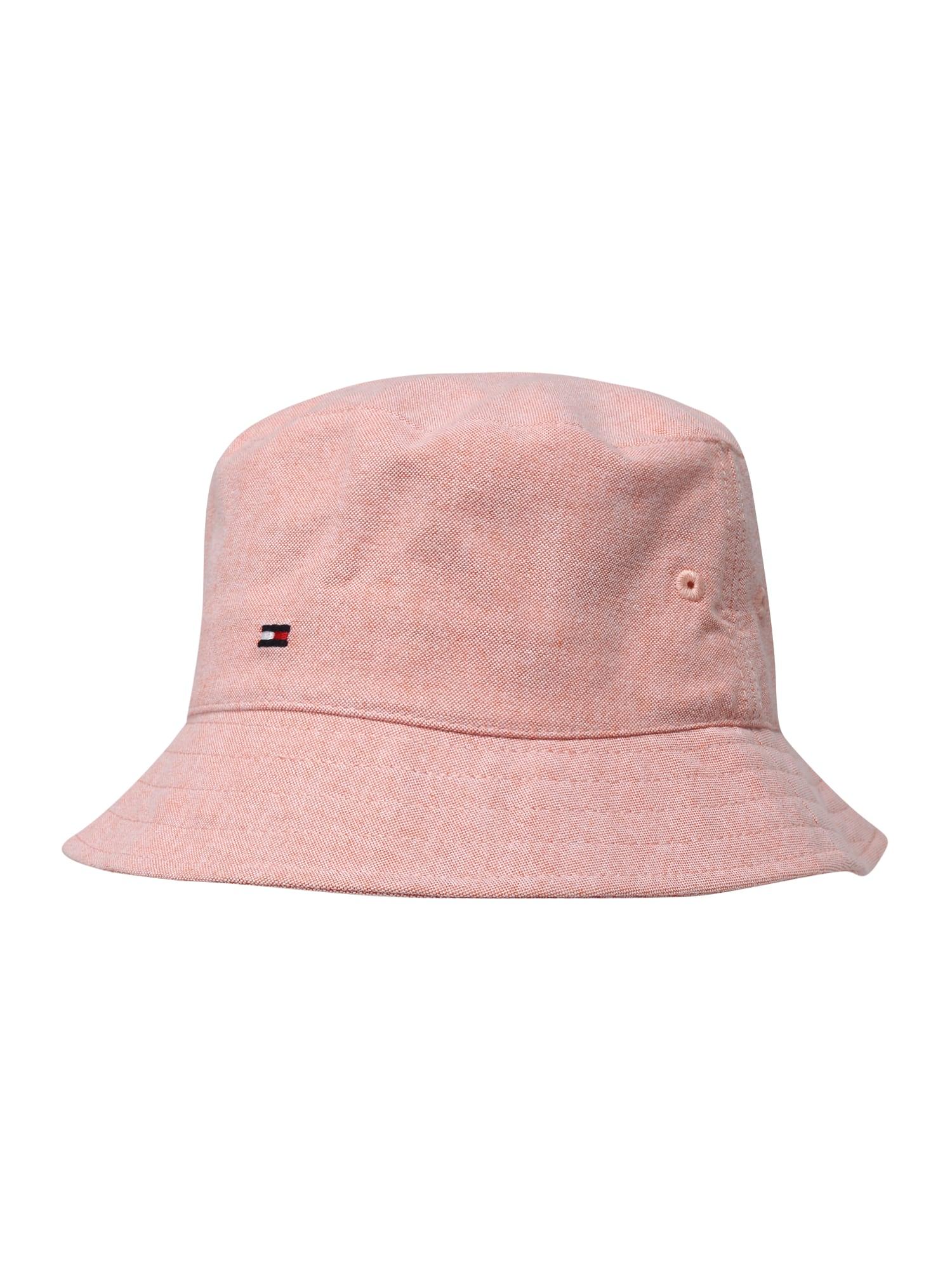 Klobouk CHAMBRAY BUCKET HAT růžová TOMMY HILFIGER