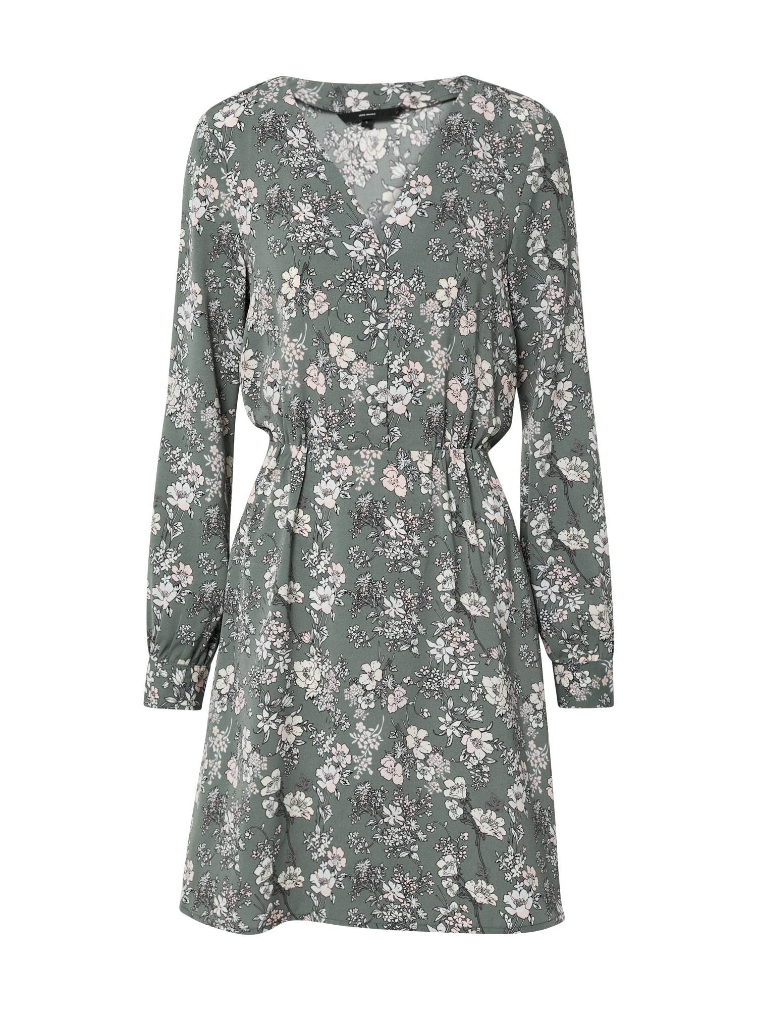 VERO MODA Šaty 'VMDIANA LS SHORT DRESS WVN DA'  zelená