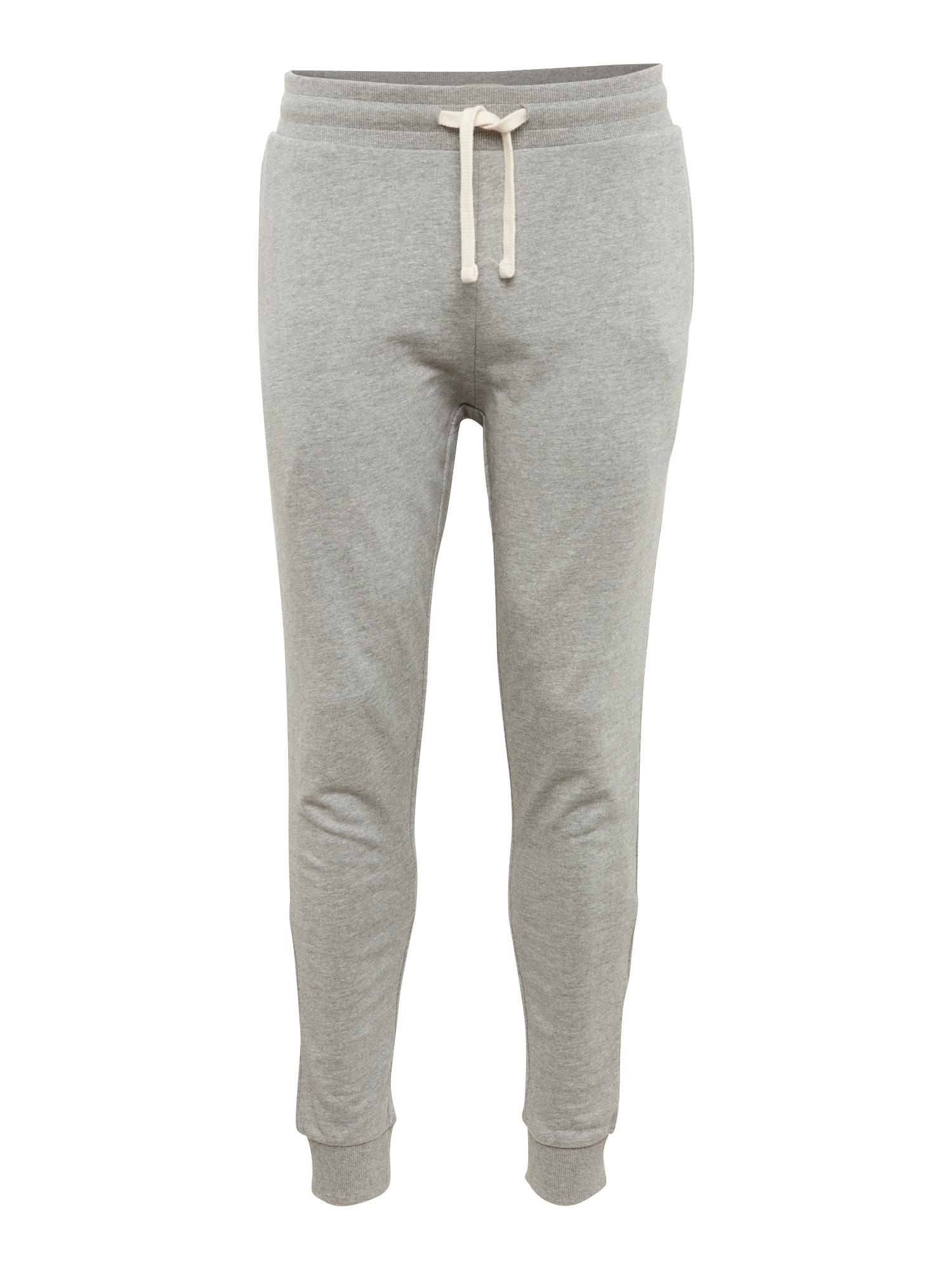 Kalhoty JJEHOLMEN SWEAT PANTS NOOS světle šedá bílá JACK & JONES