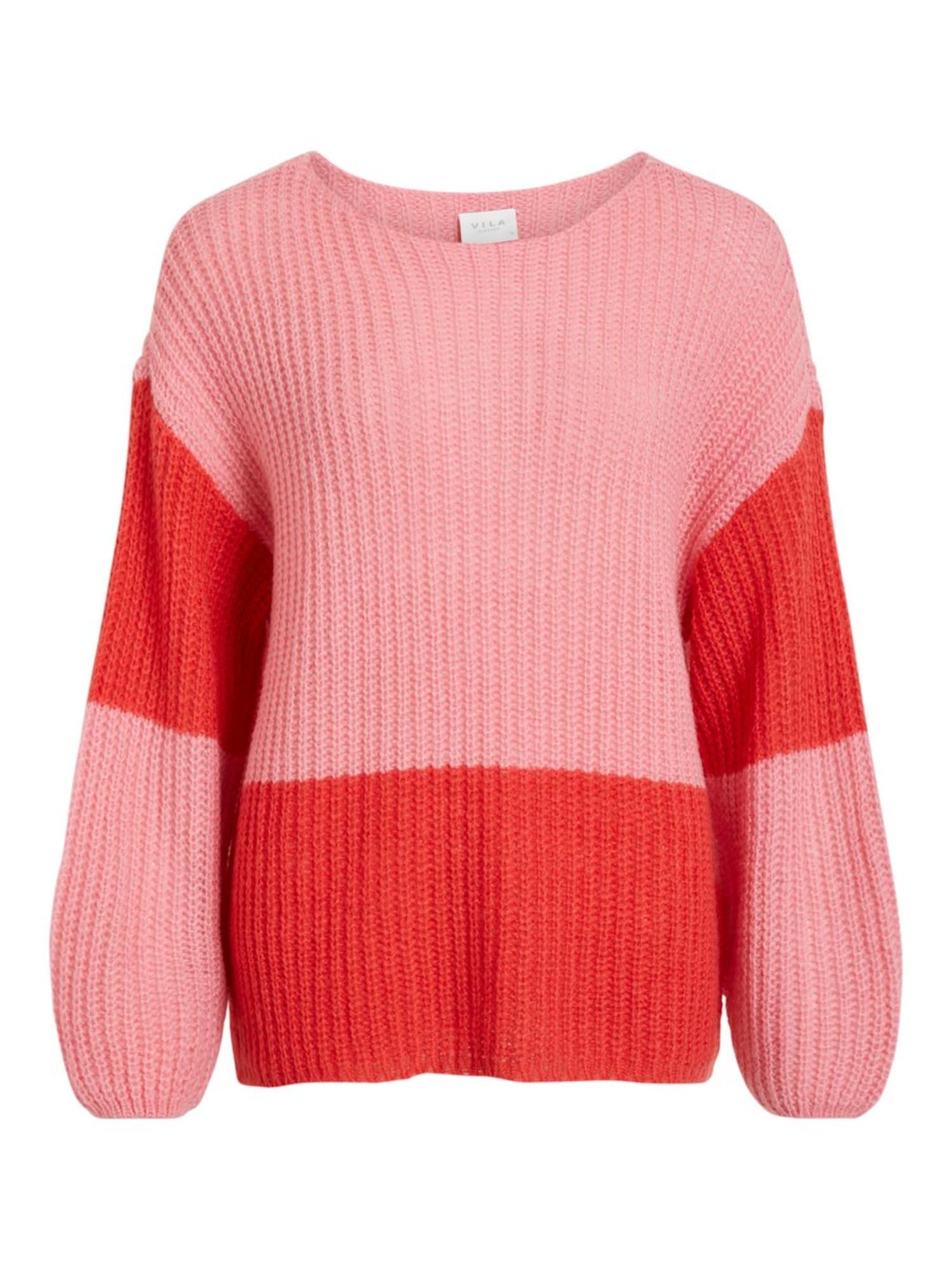 Maxi svetr růžová červená VILA