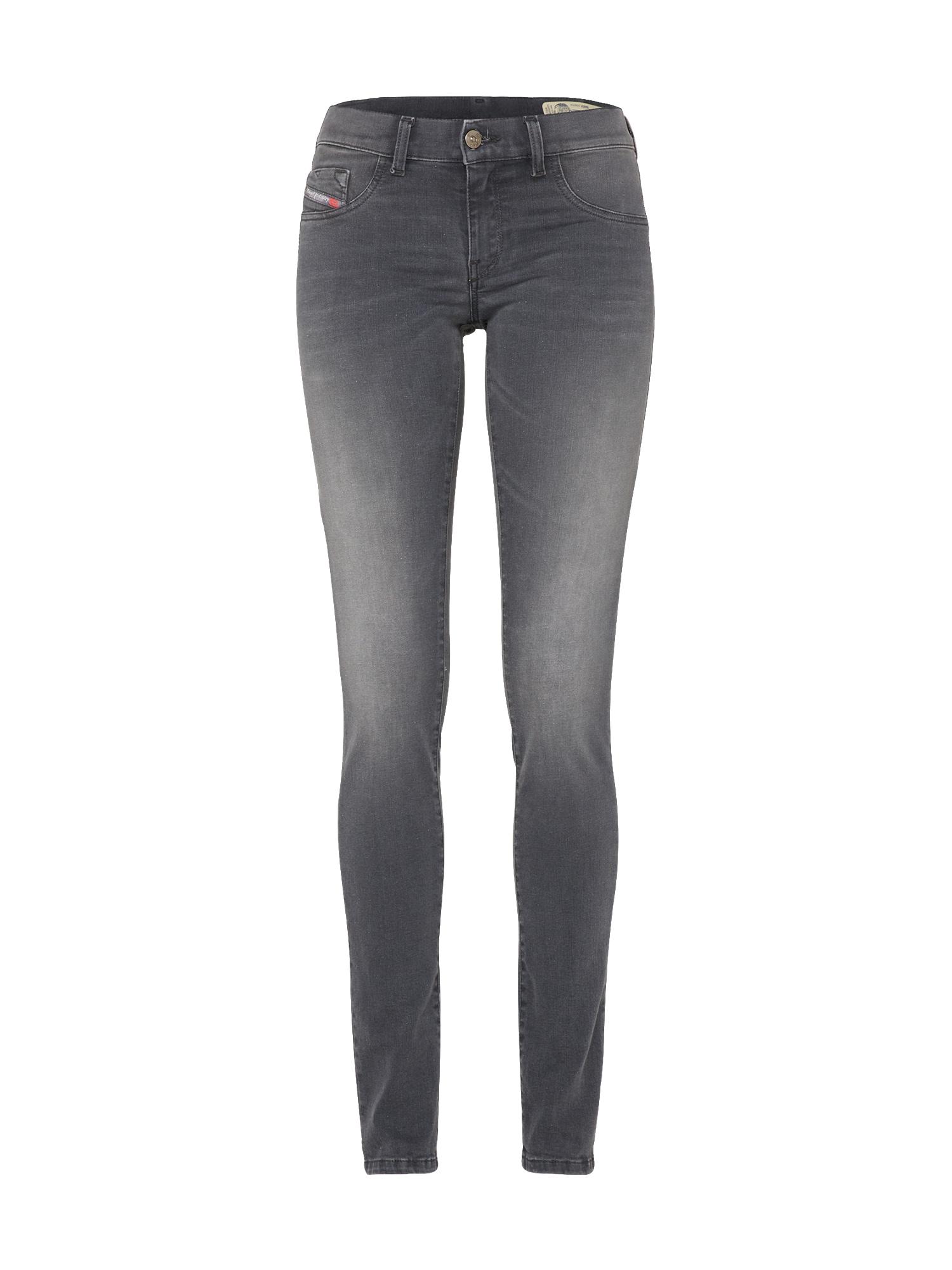 DIESEL Dames Jeans Livier Jeggings Skinny Fit 881B grijs