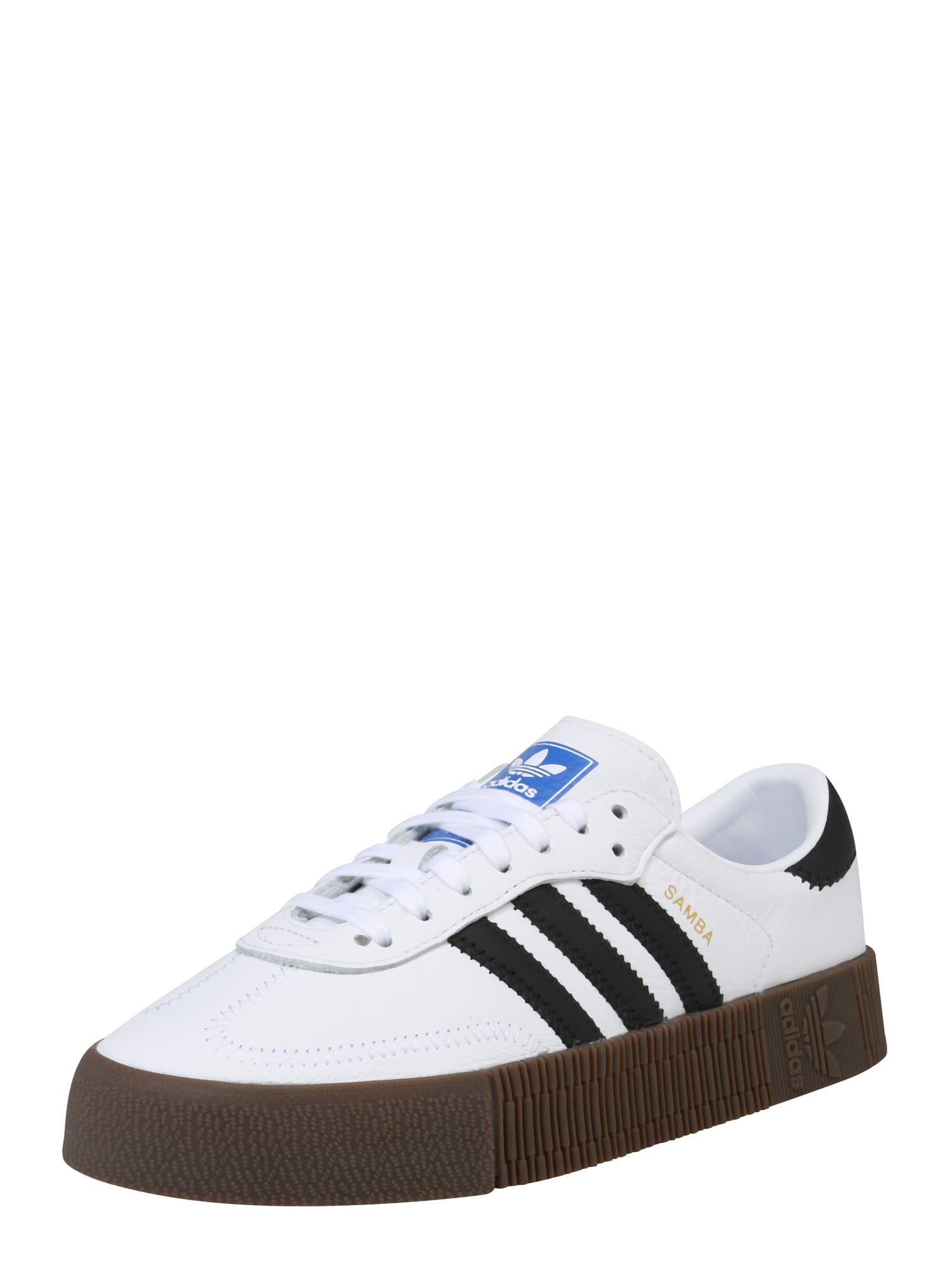 ADIDAS ORIGINALS, Dames Sneakers laag 'SAMBAROSE', zwart / wit