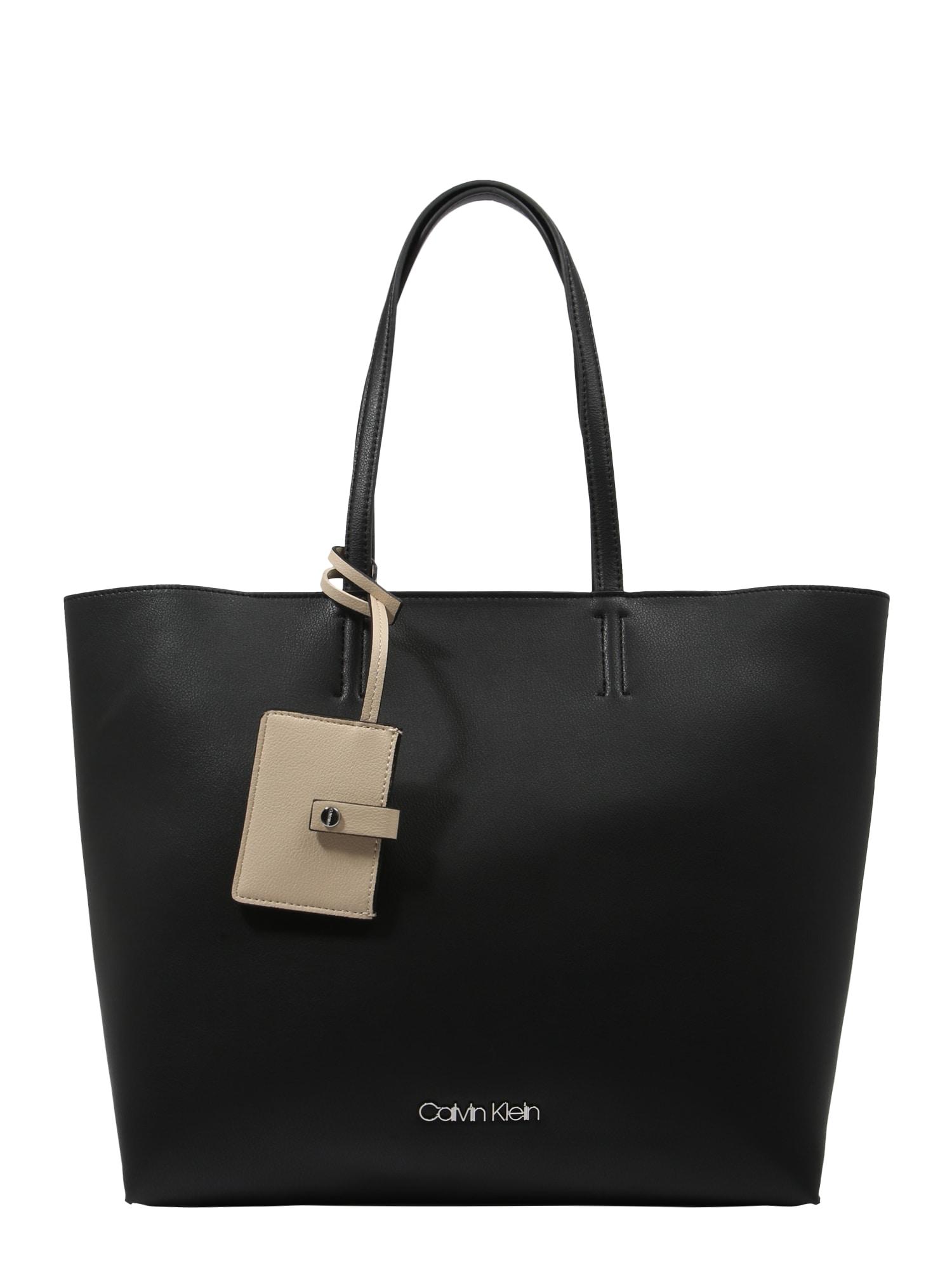 Nákupní taška TACK SHOPPER černá Calvin Klein