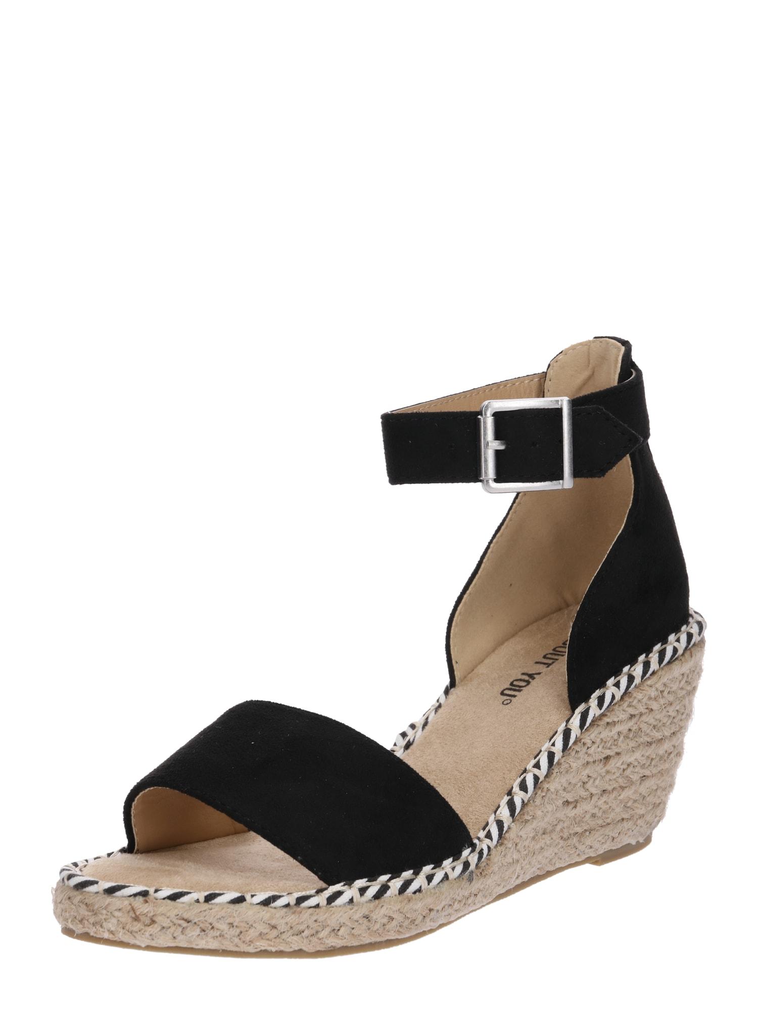 Sandály Leona černá ABOUT YOU