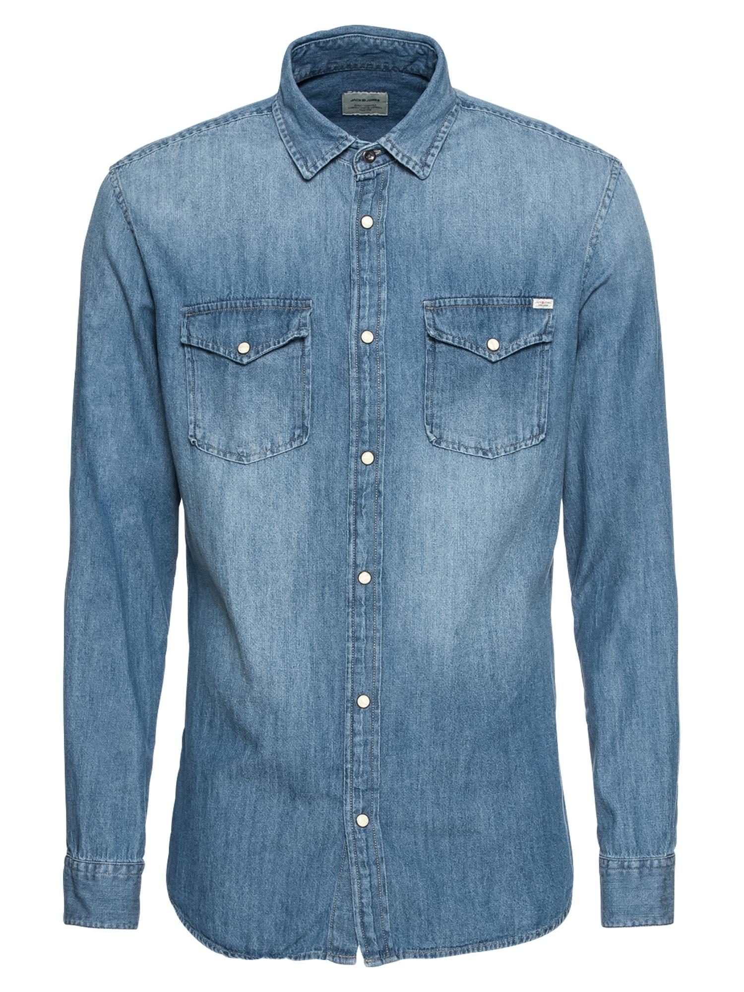 Košile modrá džínovina JACK & JONES