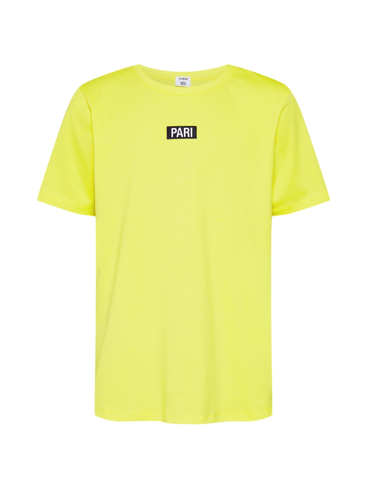 Tričko Ben žlutá černá bílá ABOUT YOU X PARI
