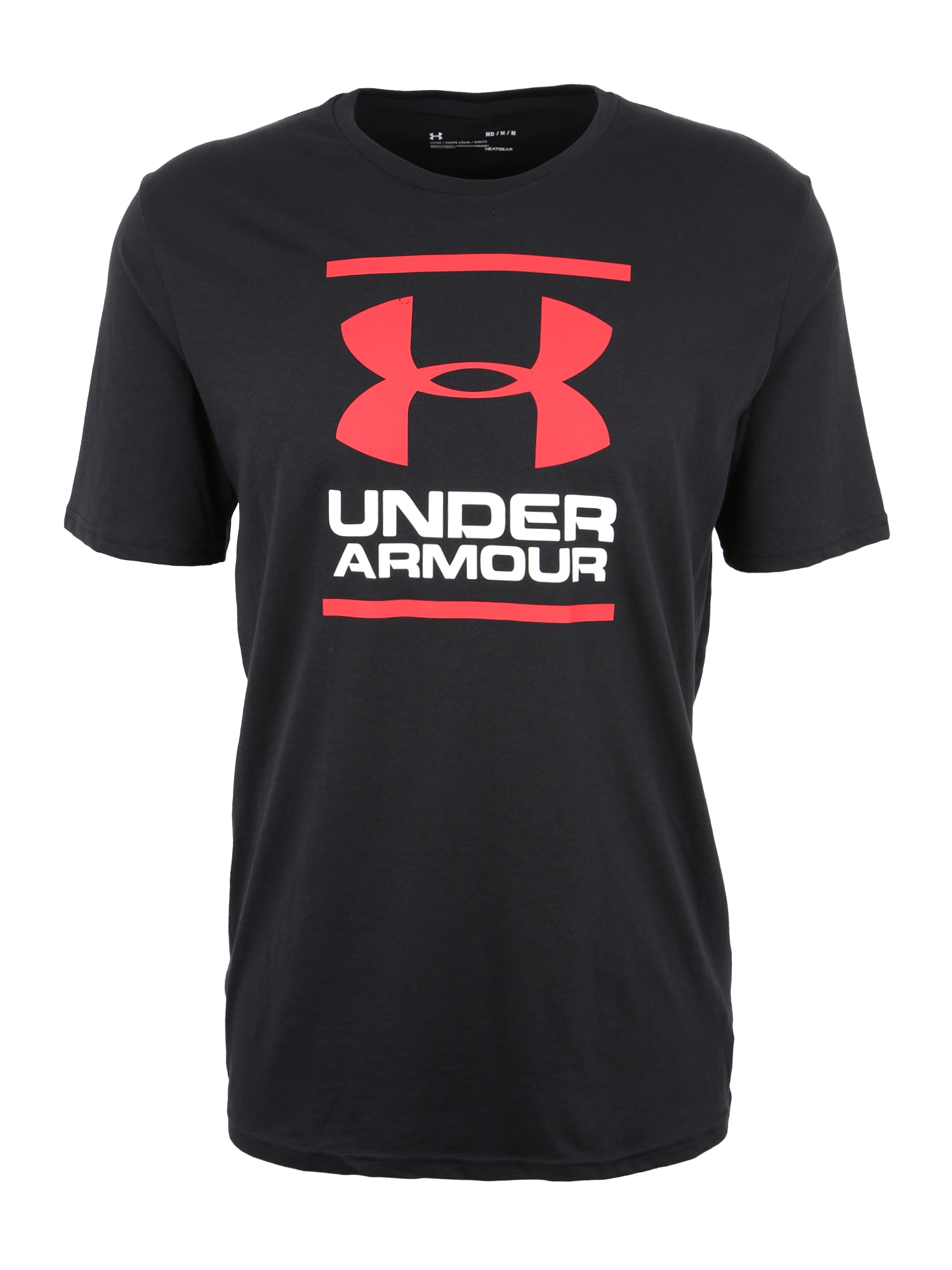 UNDER ARMOUR Funkční tričko 'Foundation'  černá / bílá / červená