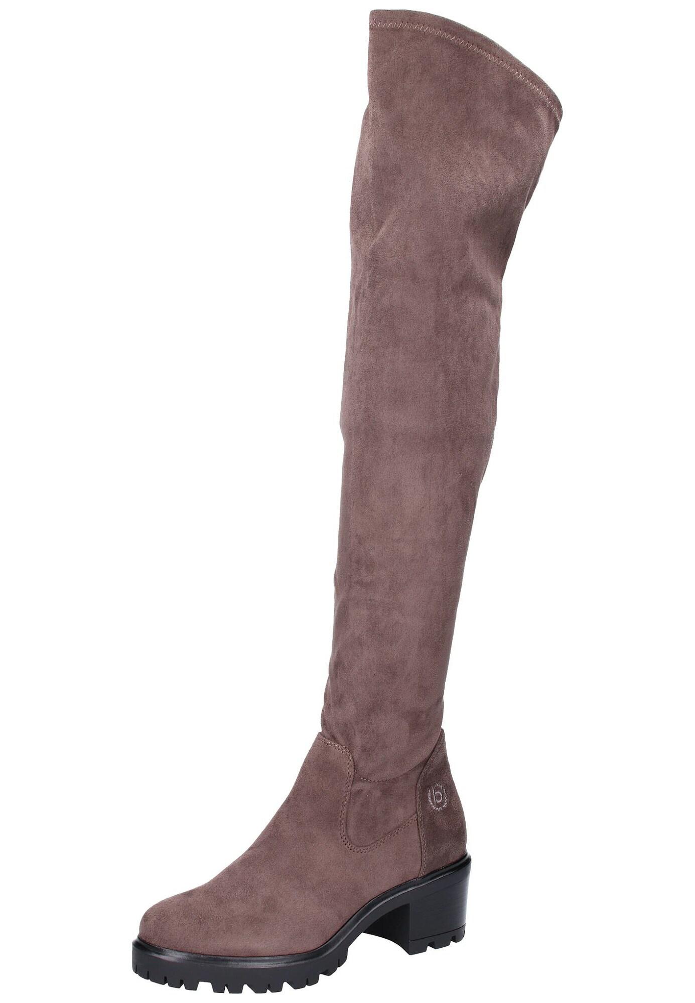Bugatti, Dames Overknee laarzen, grijs