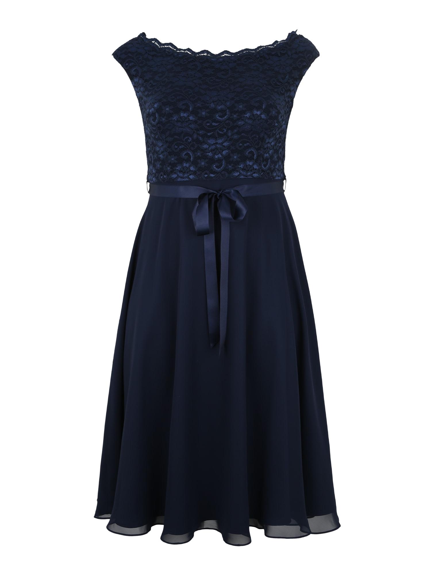 Společenské šaty modrá SWING Curve
