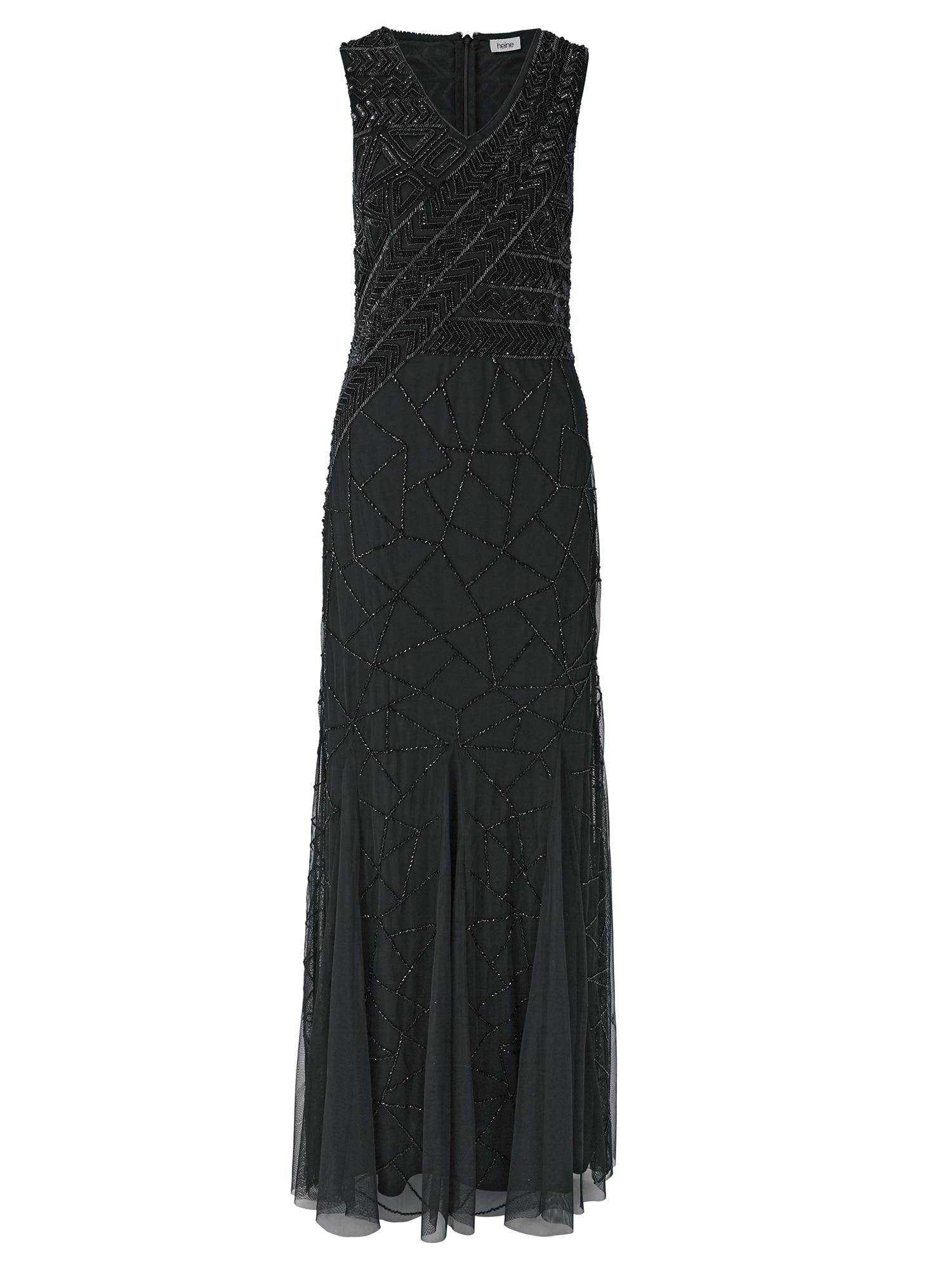 Společenské šaty Abendkleid besetzt mit dekorativen Pailletten černá Heine